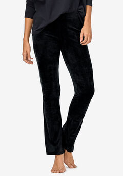 Velour Bootcut Lounge Pants by ellos®, BLACK