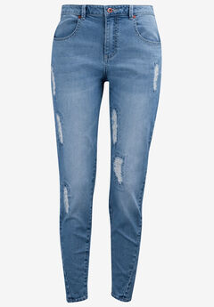 Distressed Girlfriend Jeans by ellos®,