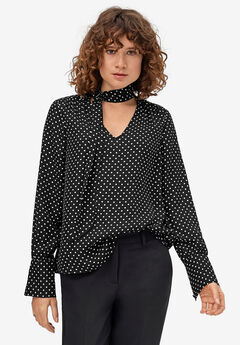 Sash Tie-Neck Blouse by ellos®,