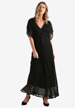Knot Front Pleated Maxi Dress by ellos®,