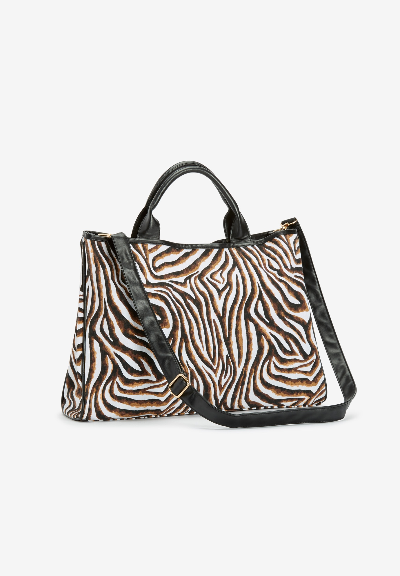 Zebra Canvas Tote Bag, WATERCOLOR ZEBRA