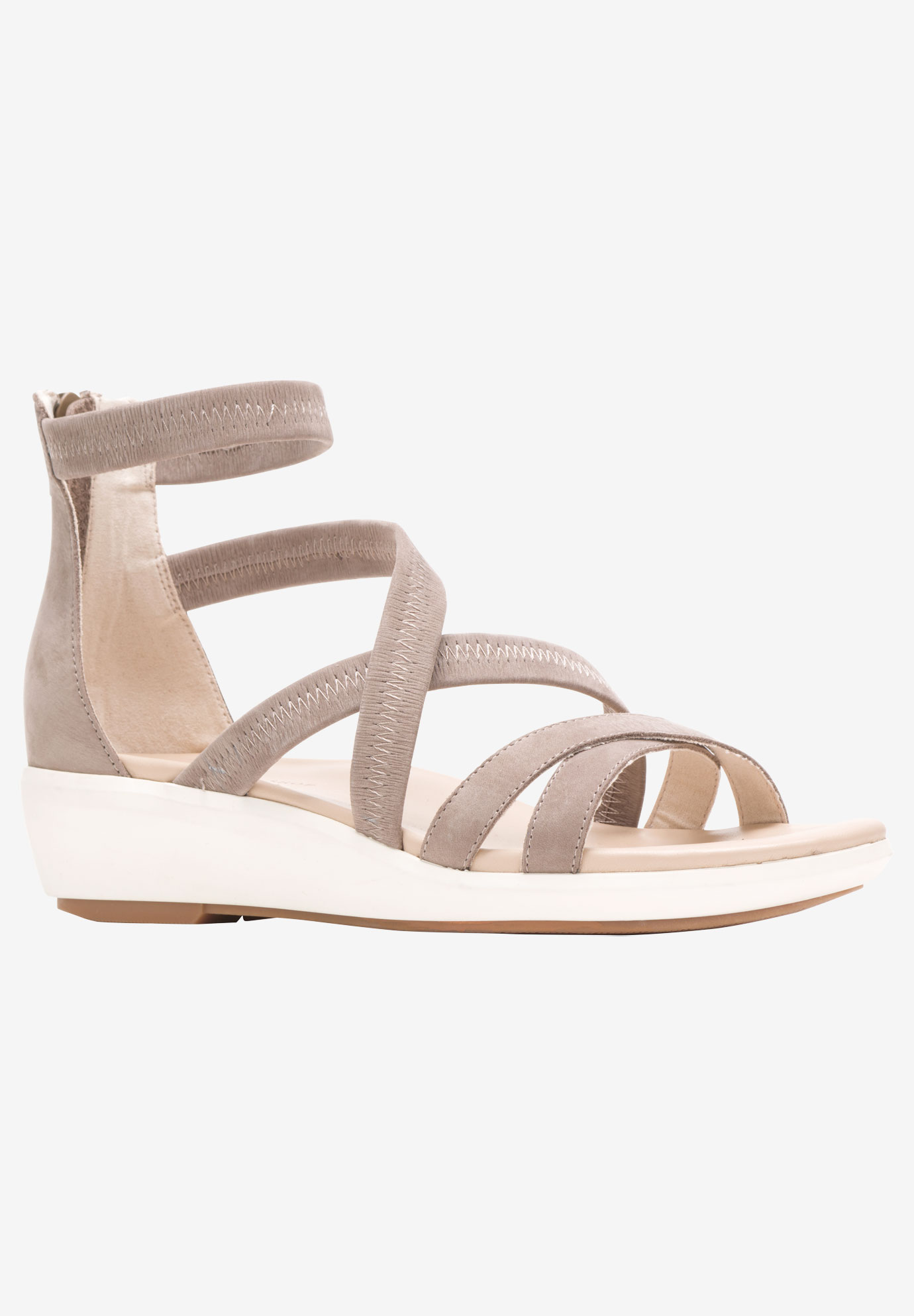 Lyricale Backzip Sandal ,