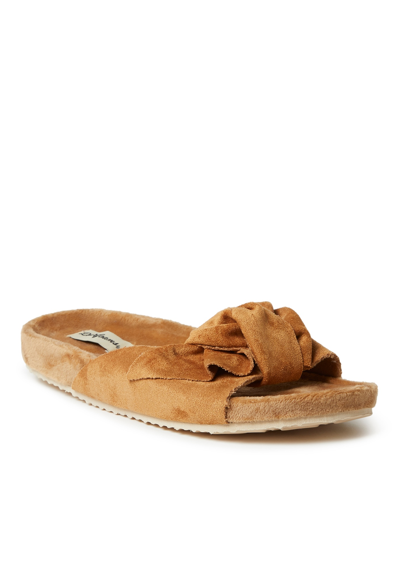 Megan Microsuede Bow Molded Footbed Slide ,