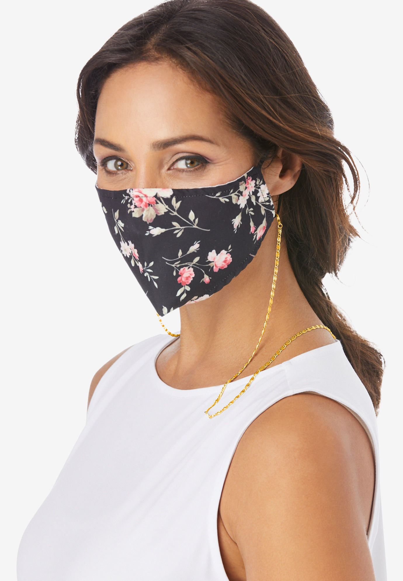 Metallic Face Mask Chain,