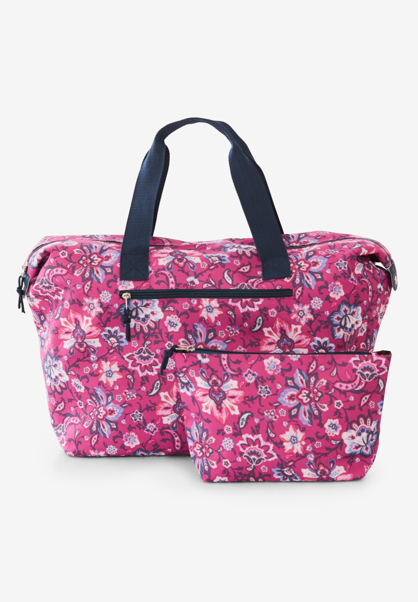 2-Piece Bag Set, RASPBERRY PLAYFUL PAISLEY