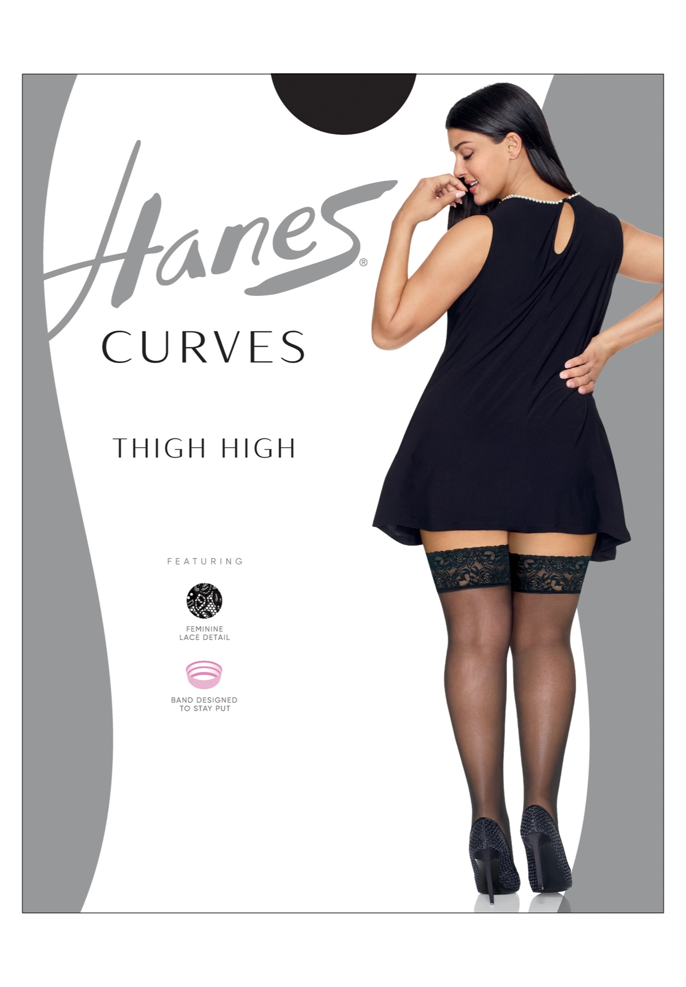 Curves Lace Thigh High,