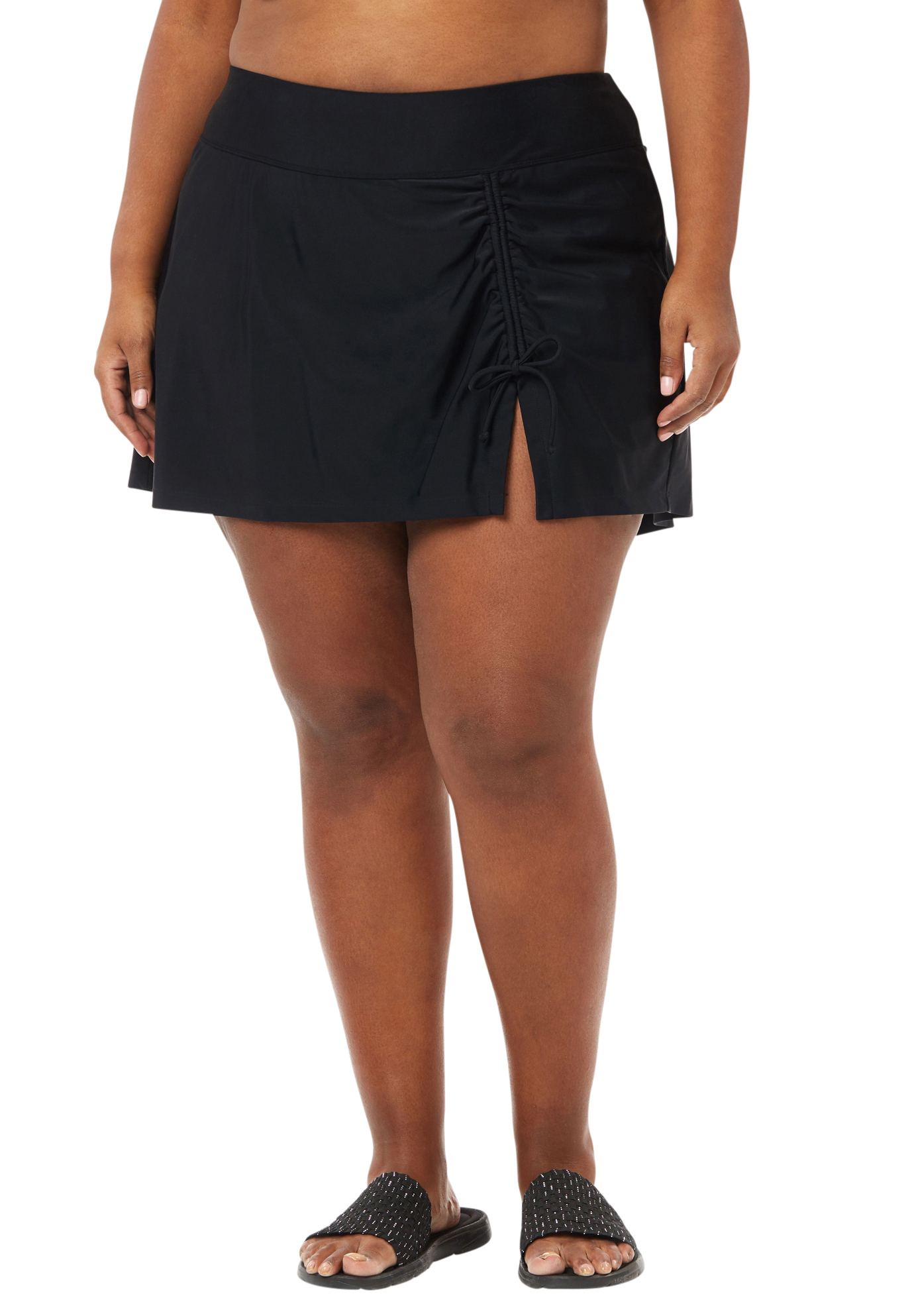 Ruched Front Swim Skirt,