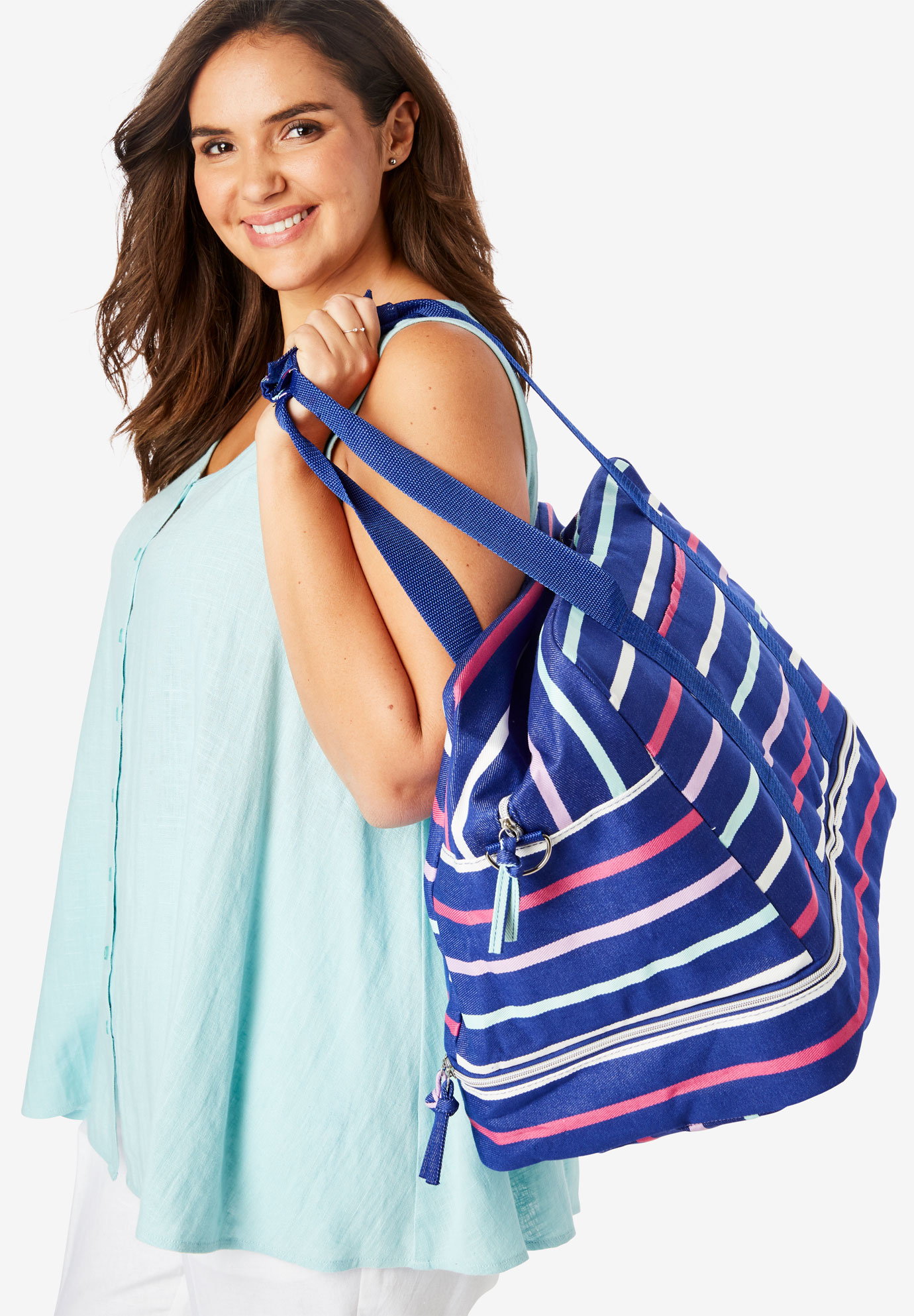 Weekender Bag, INDIGO MULTI STRIPE