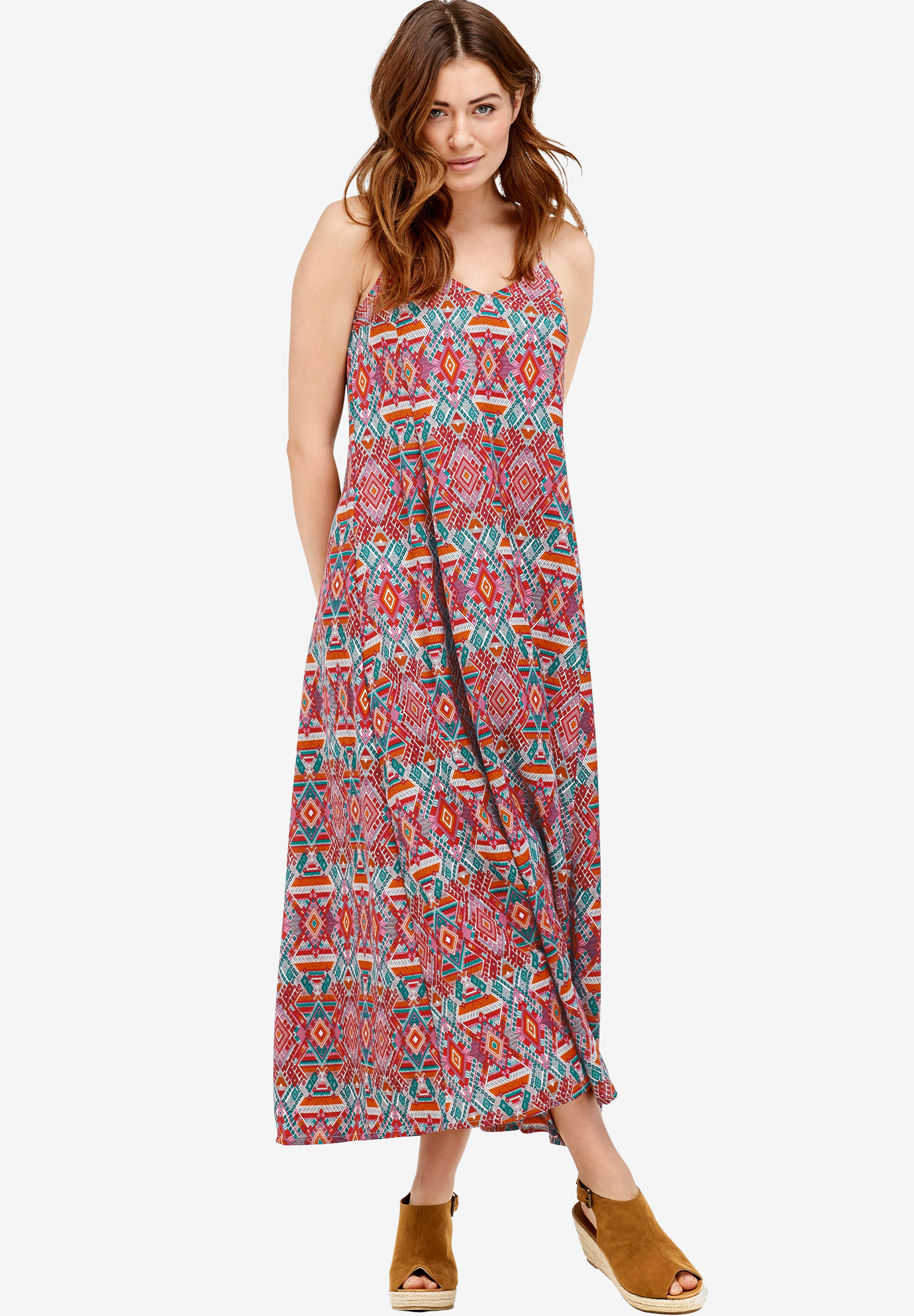 Crisscross Back Maxi Dress by ellos®| Plus Size Maxi Dresses | Ellos