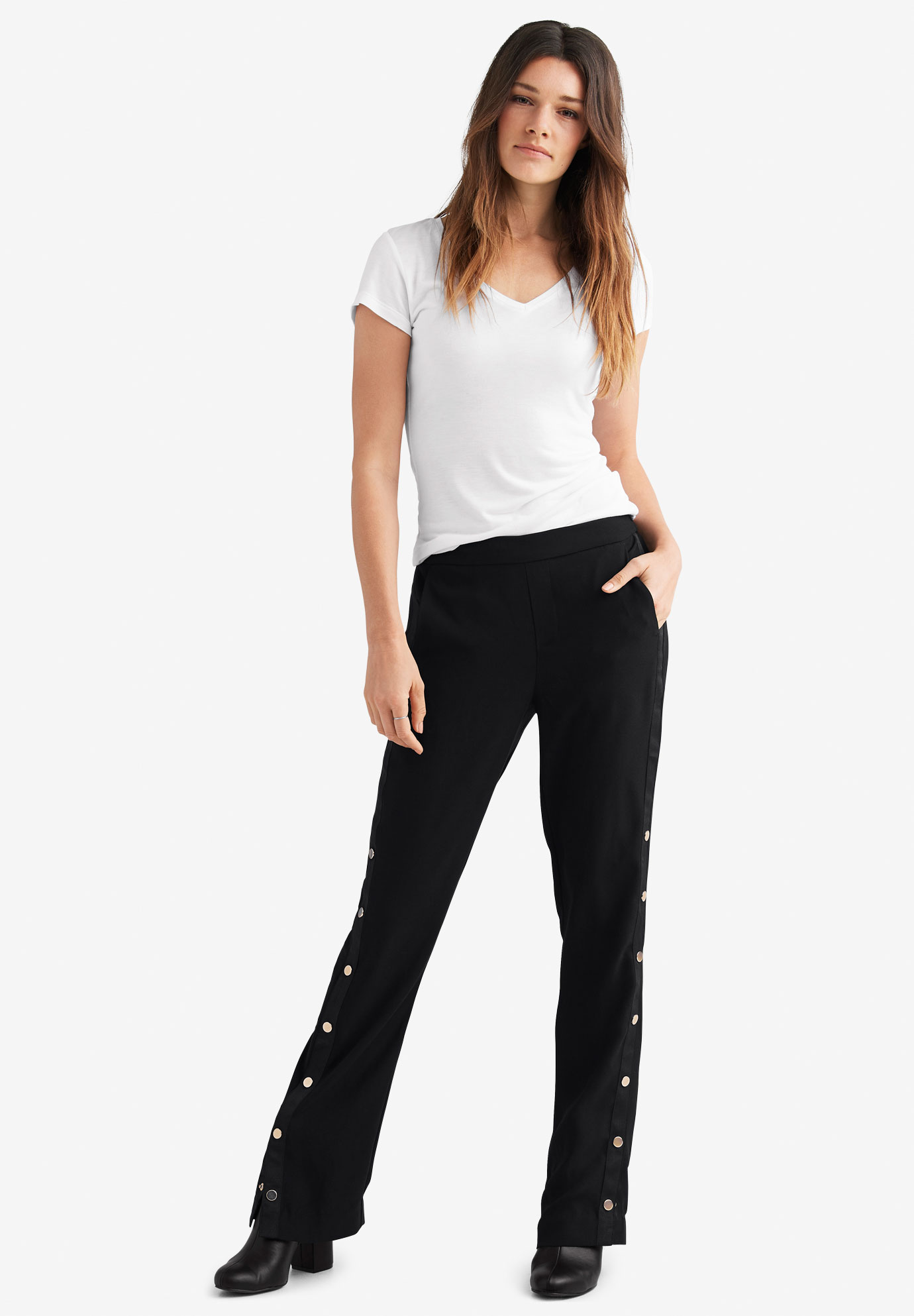 d42aef3a260 Side Snap Pants by ellos®