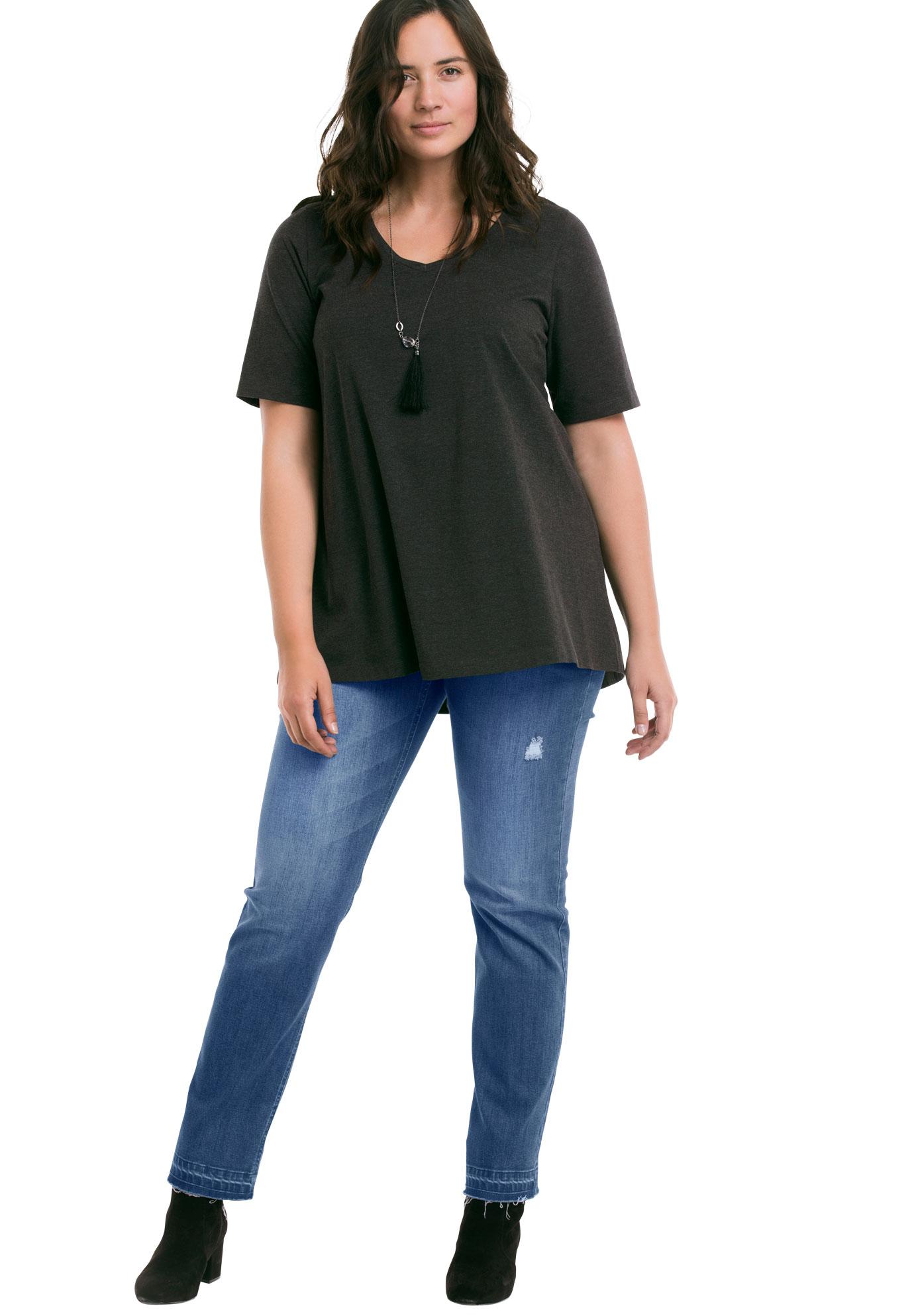 15981448da176 Frayed Hem Jeans by ellos®