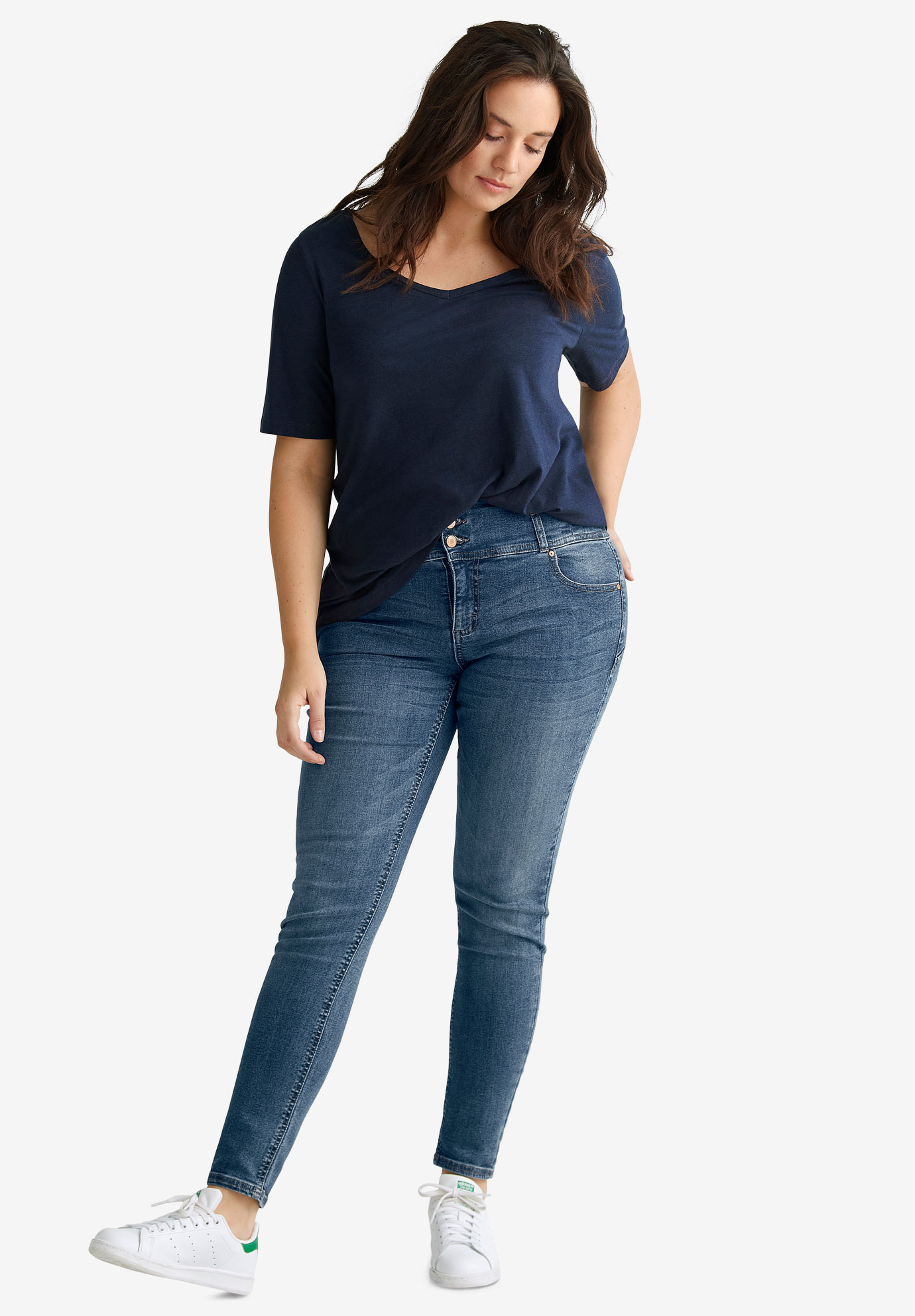 9db1e2b864b4 Skinny High Waist Shaping Jeans by ellos®| Plus Size Jeans | Ellos