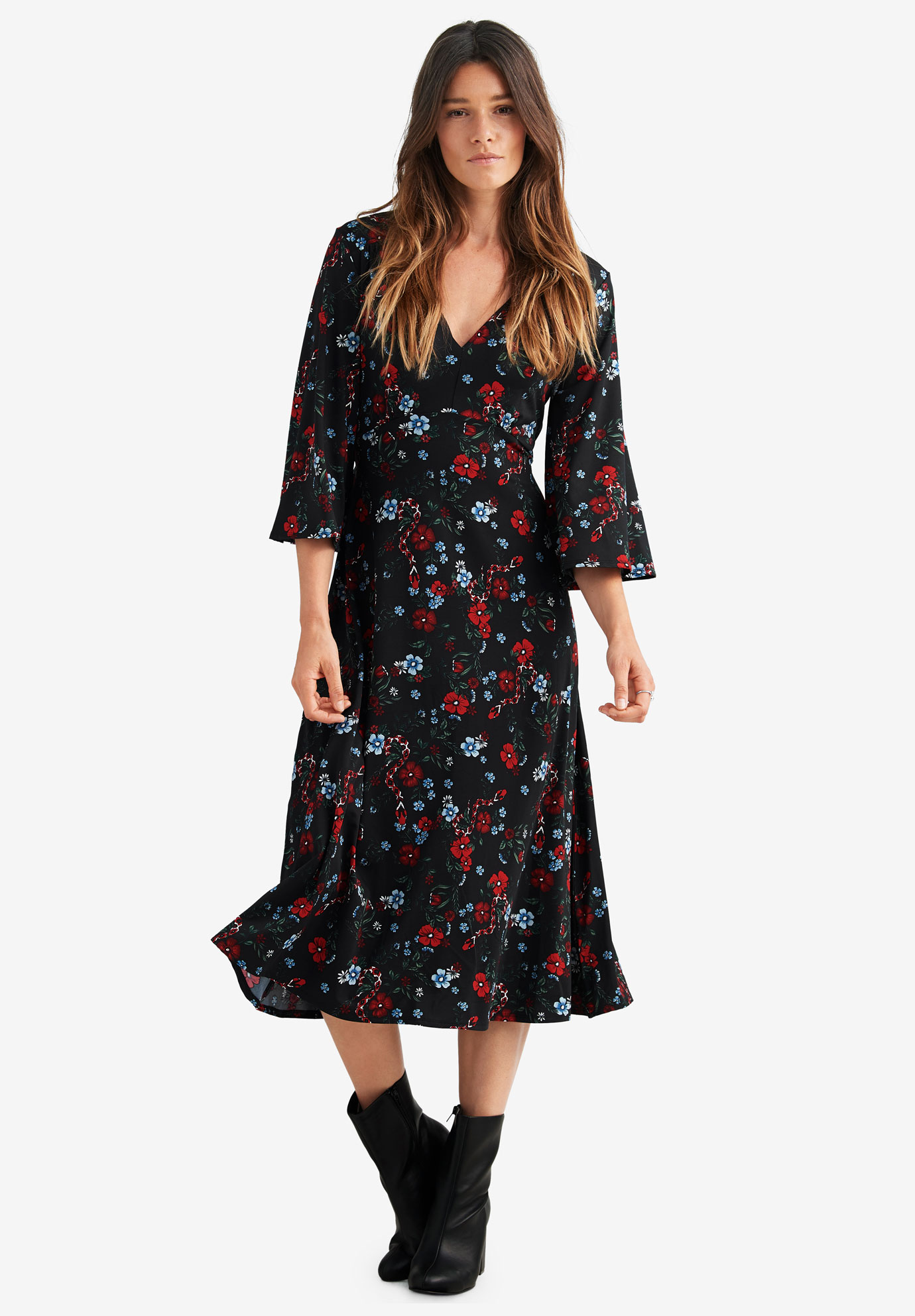 Empire Waist Midi Dress by ellos®