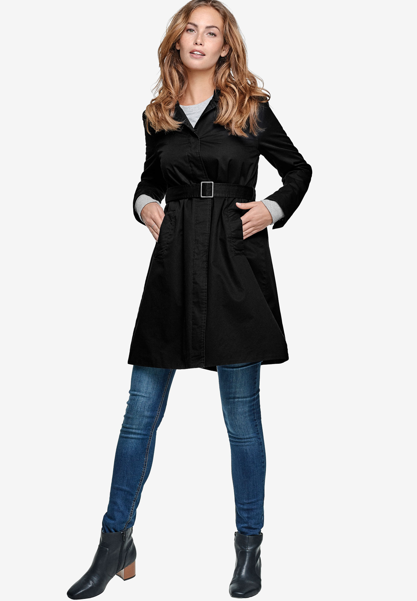99c24d6800f Belted A-Line Trench Coat by ellos®