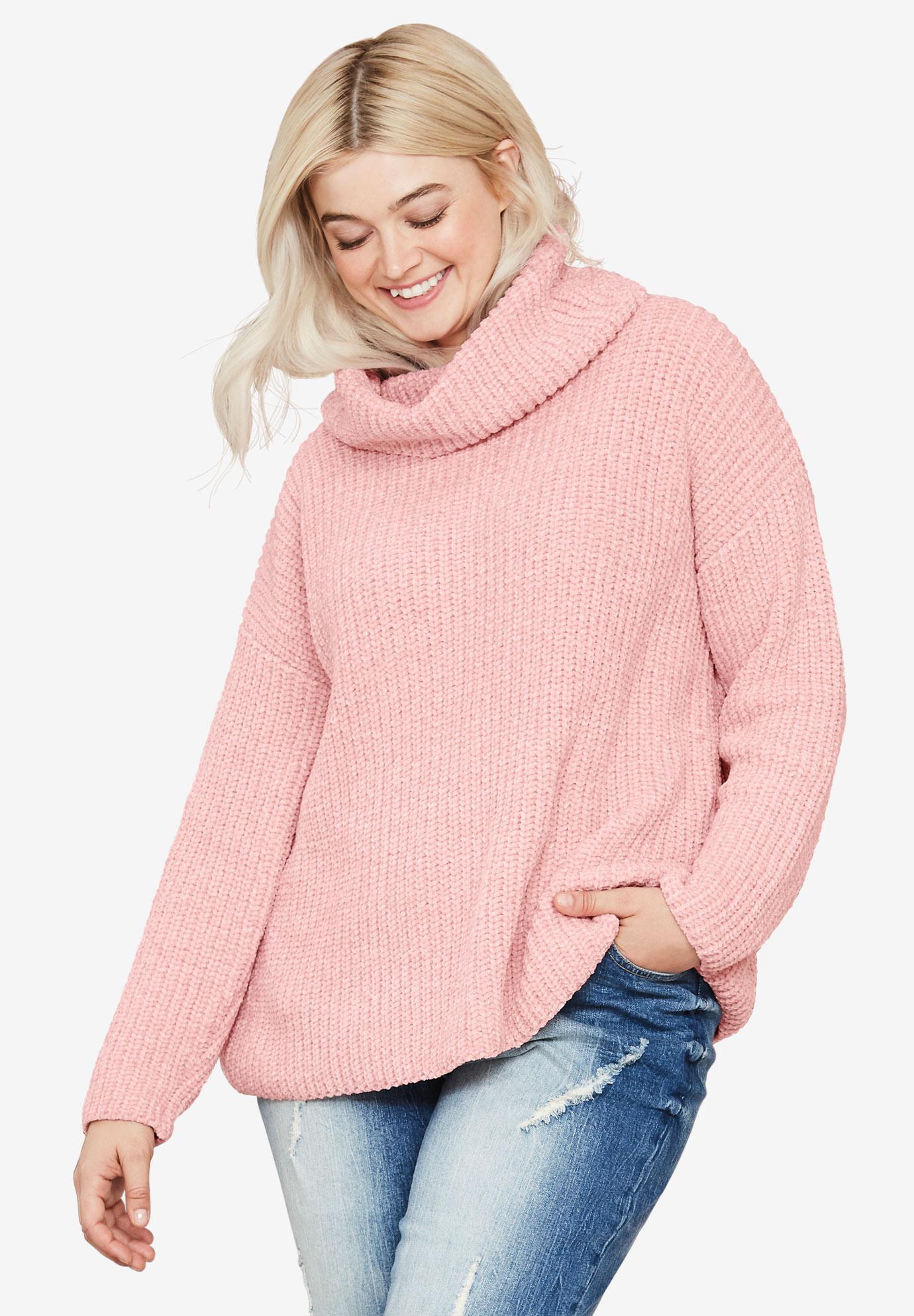 517208947 Chenille Turtleneck Sweater by ellos®