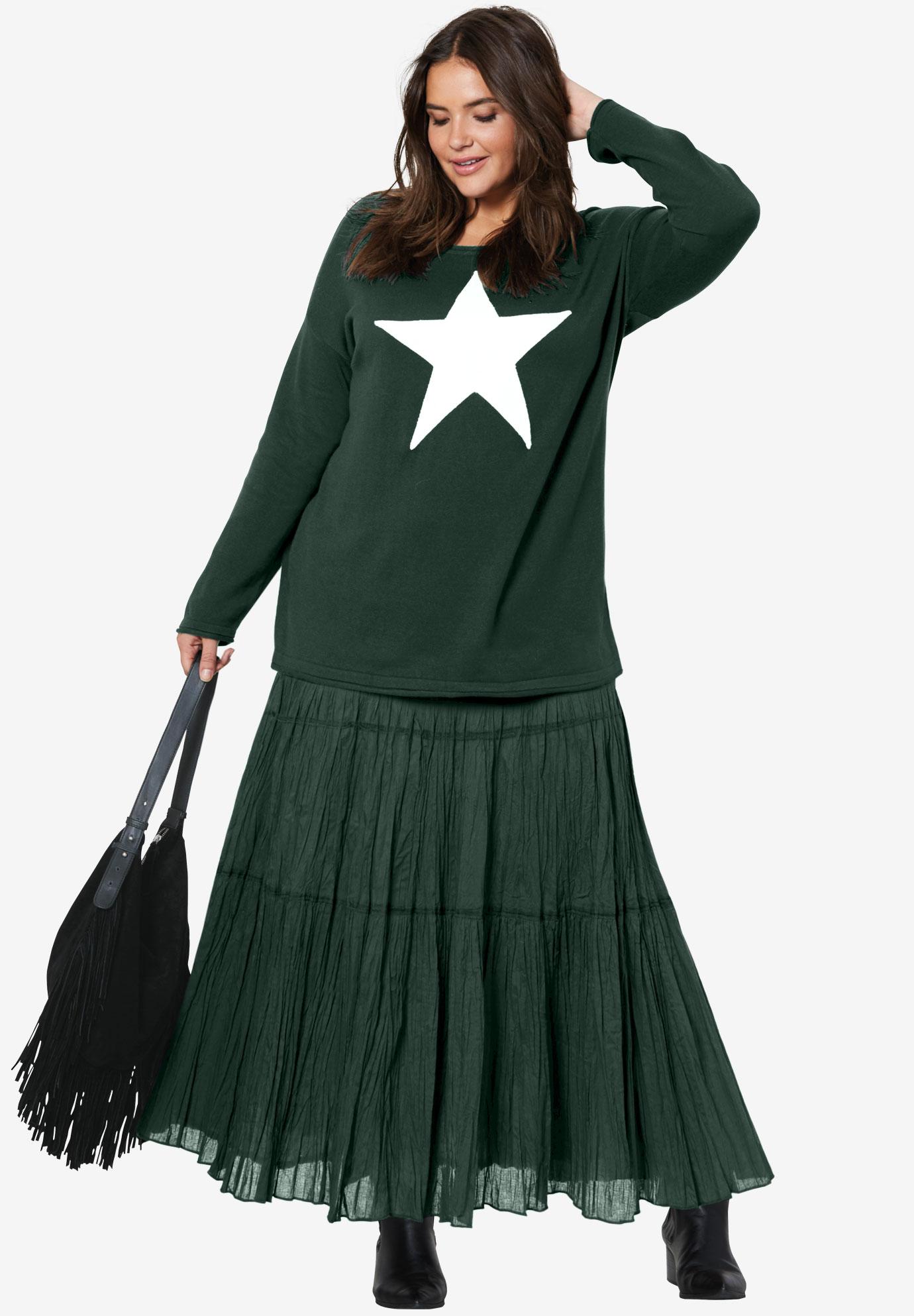 5f011287865 Tiered Crinkle Skirt by ellos®