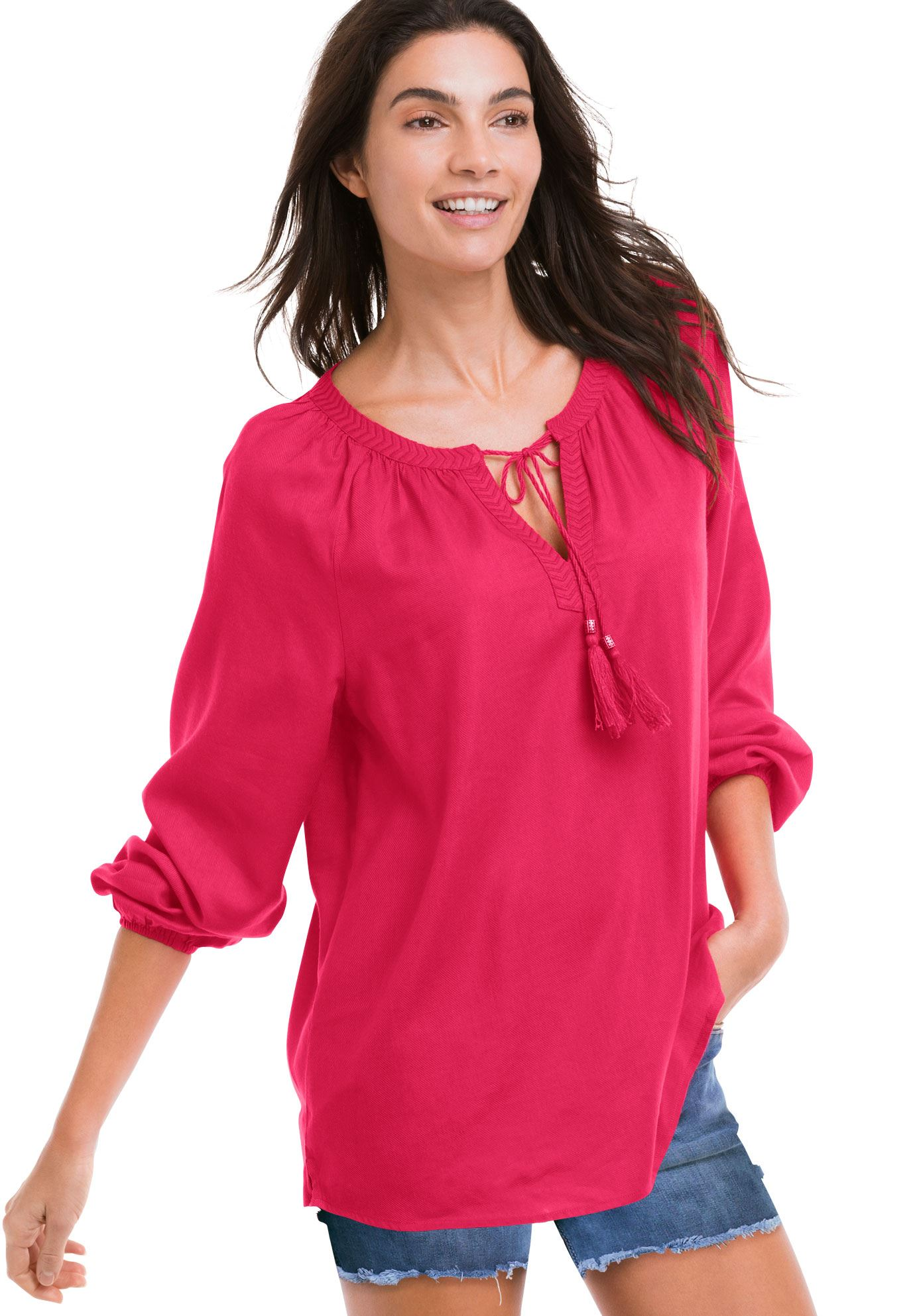 Embroidered Peasant Tunic by ellos®,