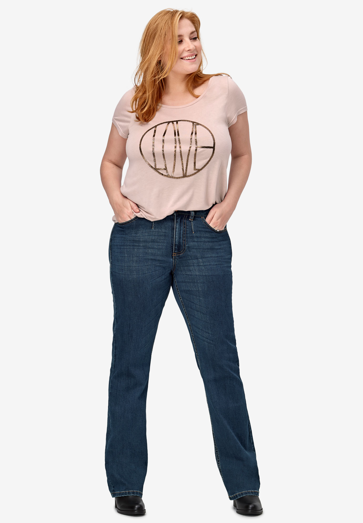 Bootcut Stretch Jeans by ellos®,