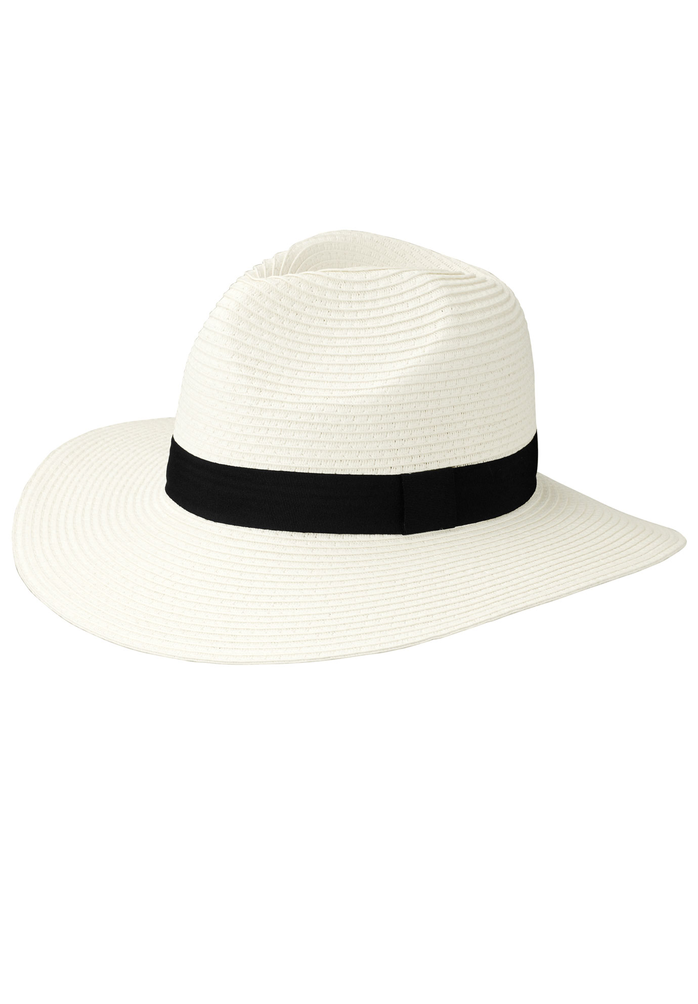 Straw Panama Hat by ellos®, WHITE