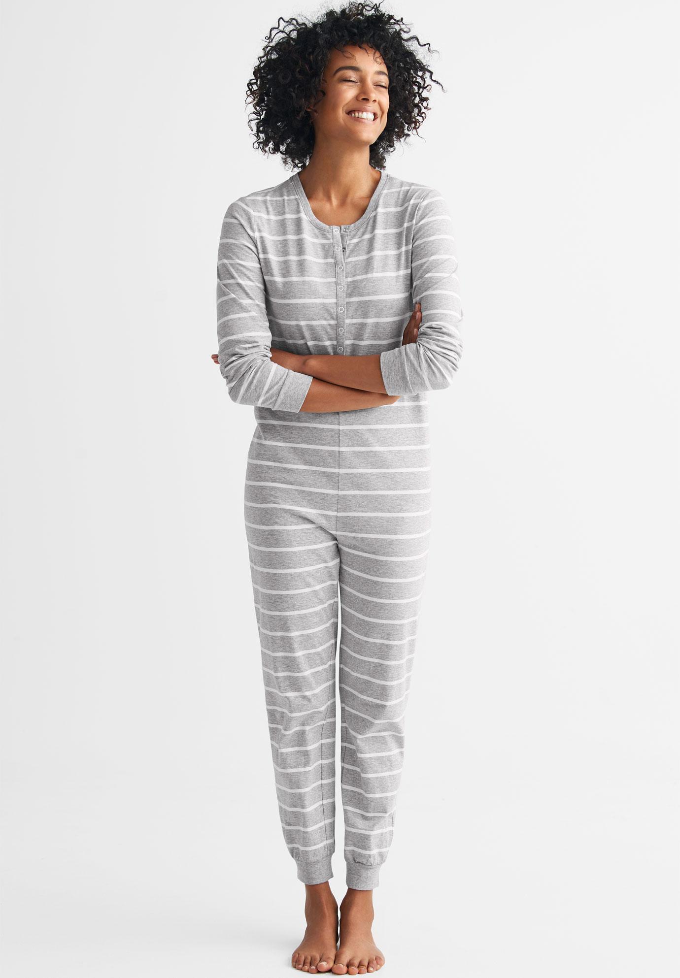 5dd3eb8d1933 Henley One-piece Pajamas by ellos®