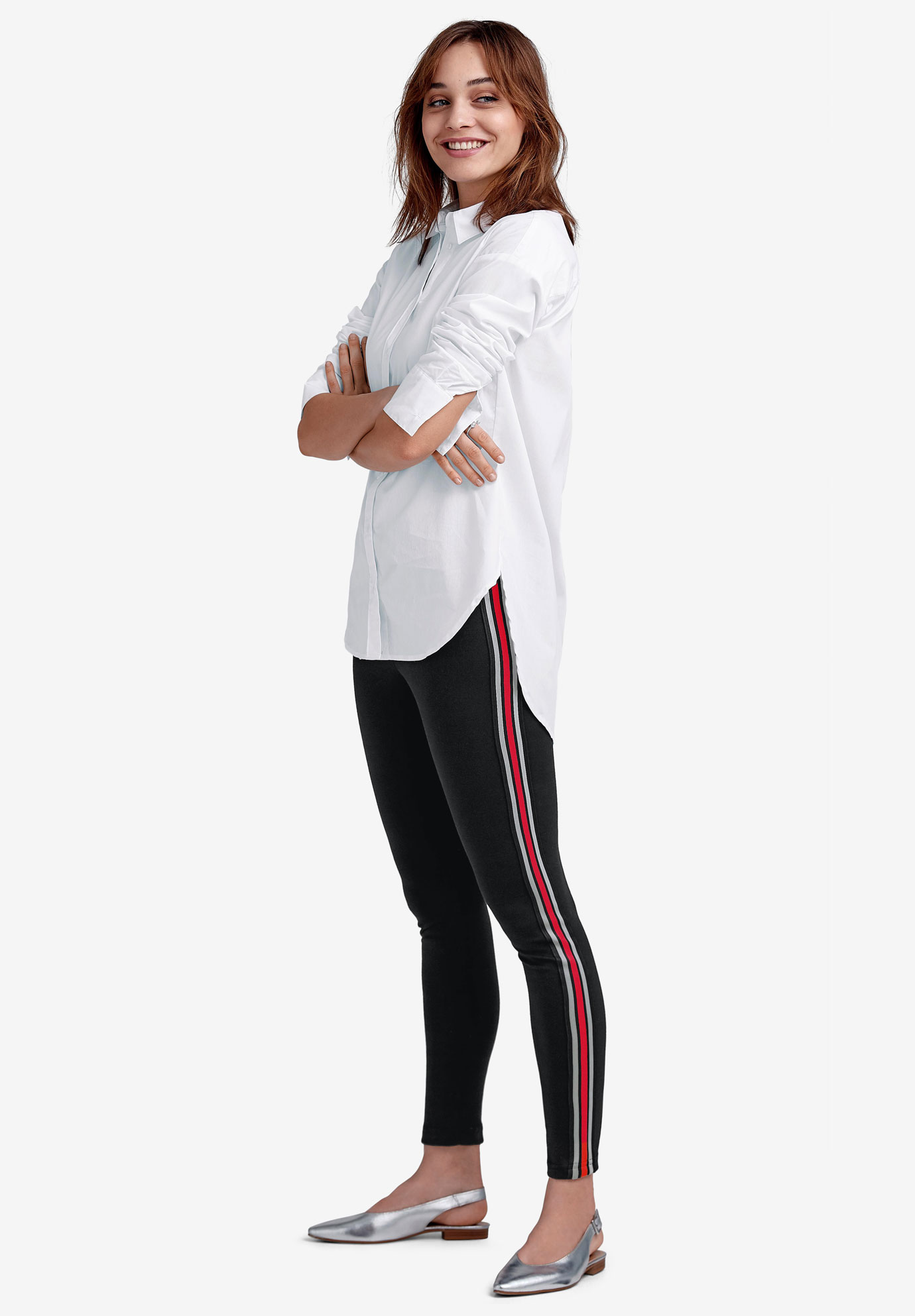 Side-Stripe Ponte Leggings by ellos®,