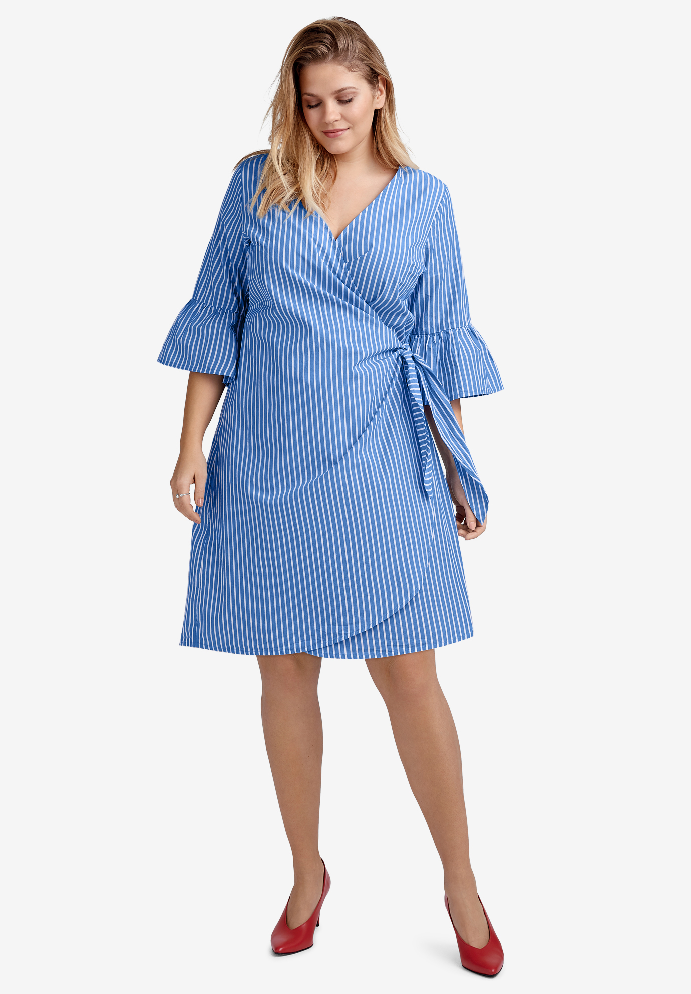 Bell-Sleeve Wrap Dress by ellos®,