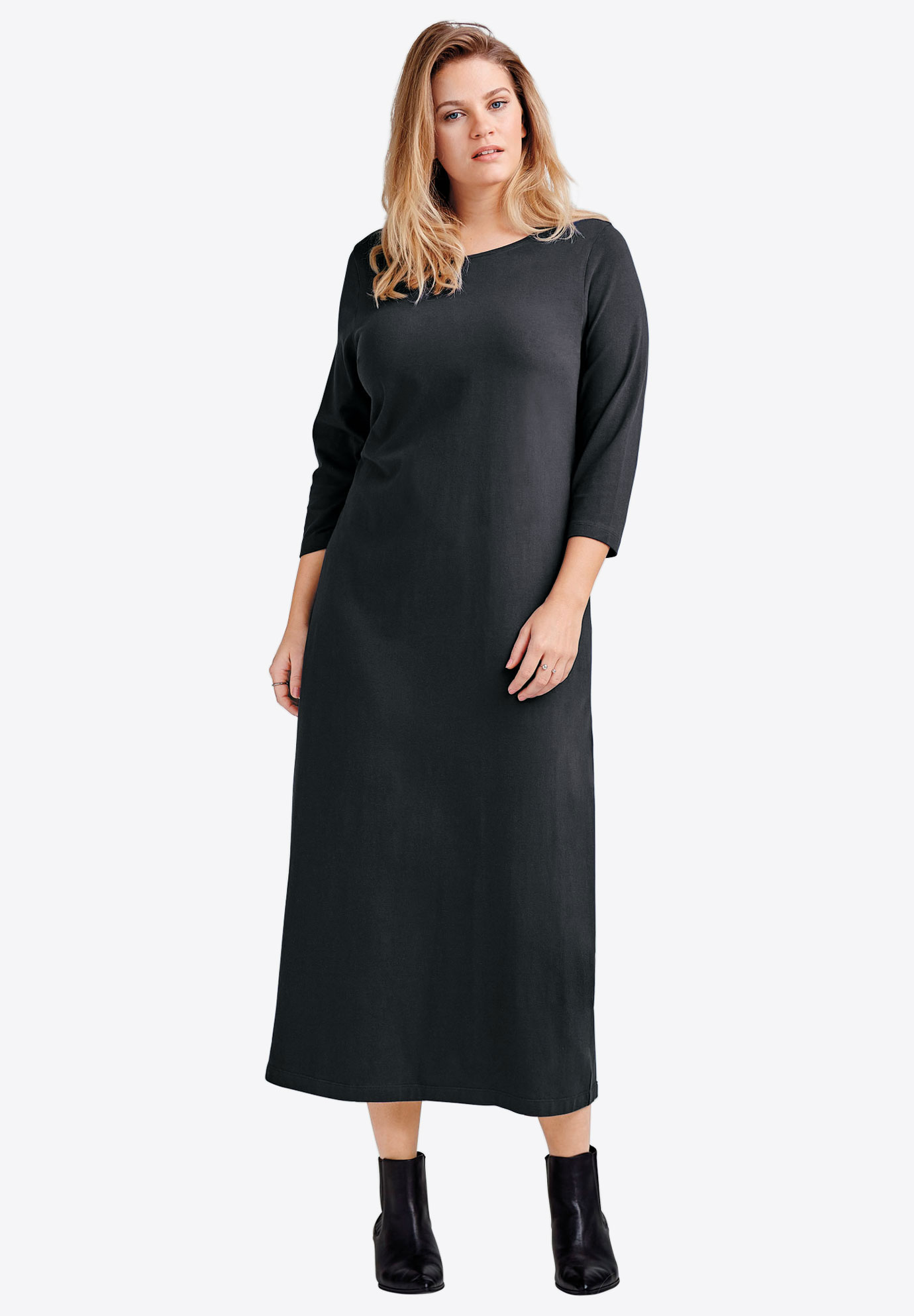 3/4 Sleeve Knit Maxi Dress by ellos®