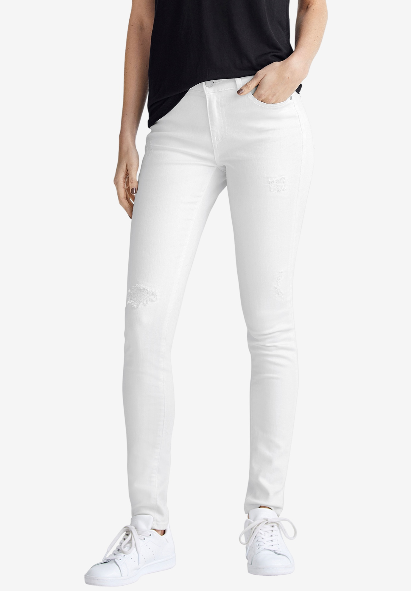 Distressed Skinny Jeans by ellos®,