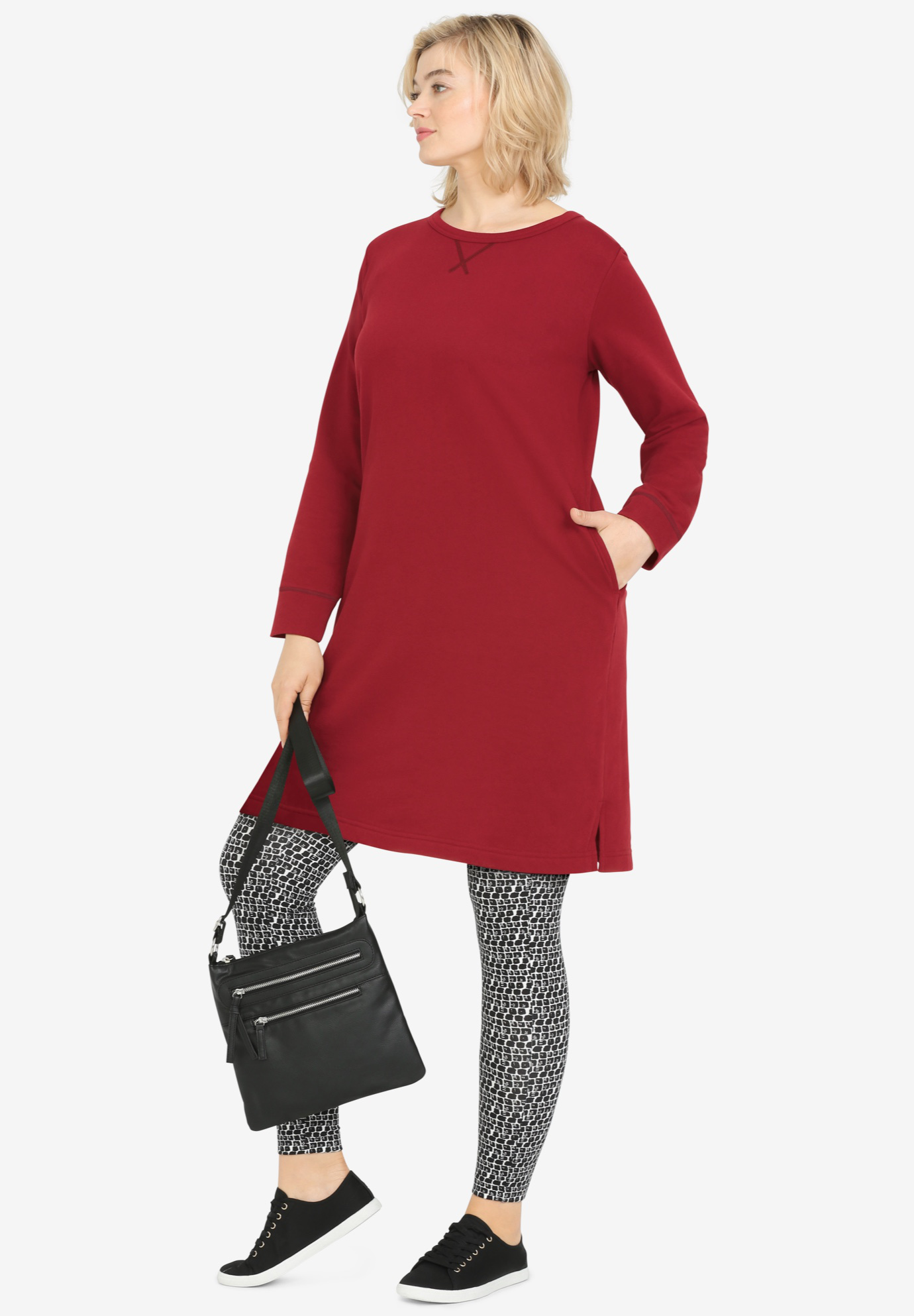 French Terry Tunic Dress by ellos®
