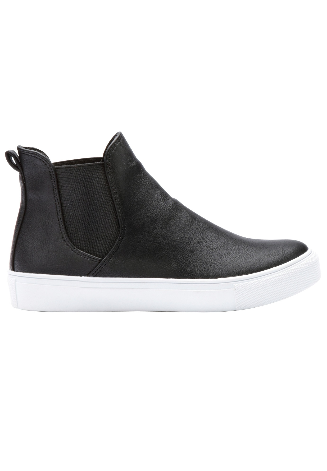 Faux Leather High-top Sneakers by ellos
