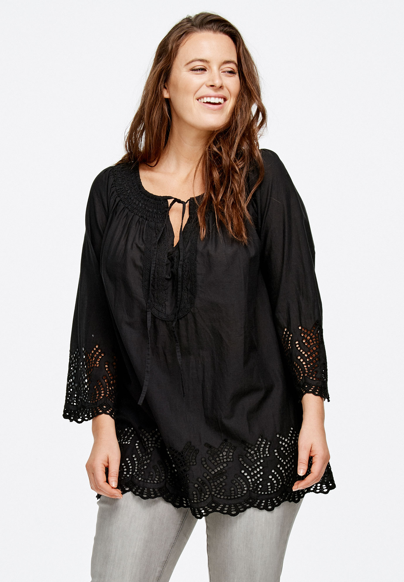Cutwork Peasant Tunic by ellos®,
