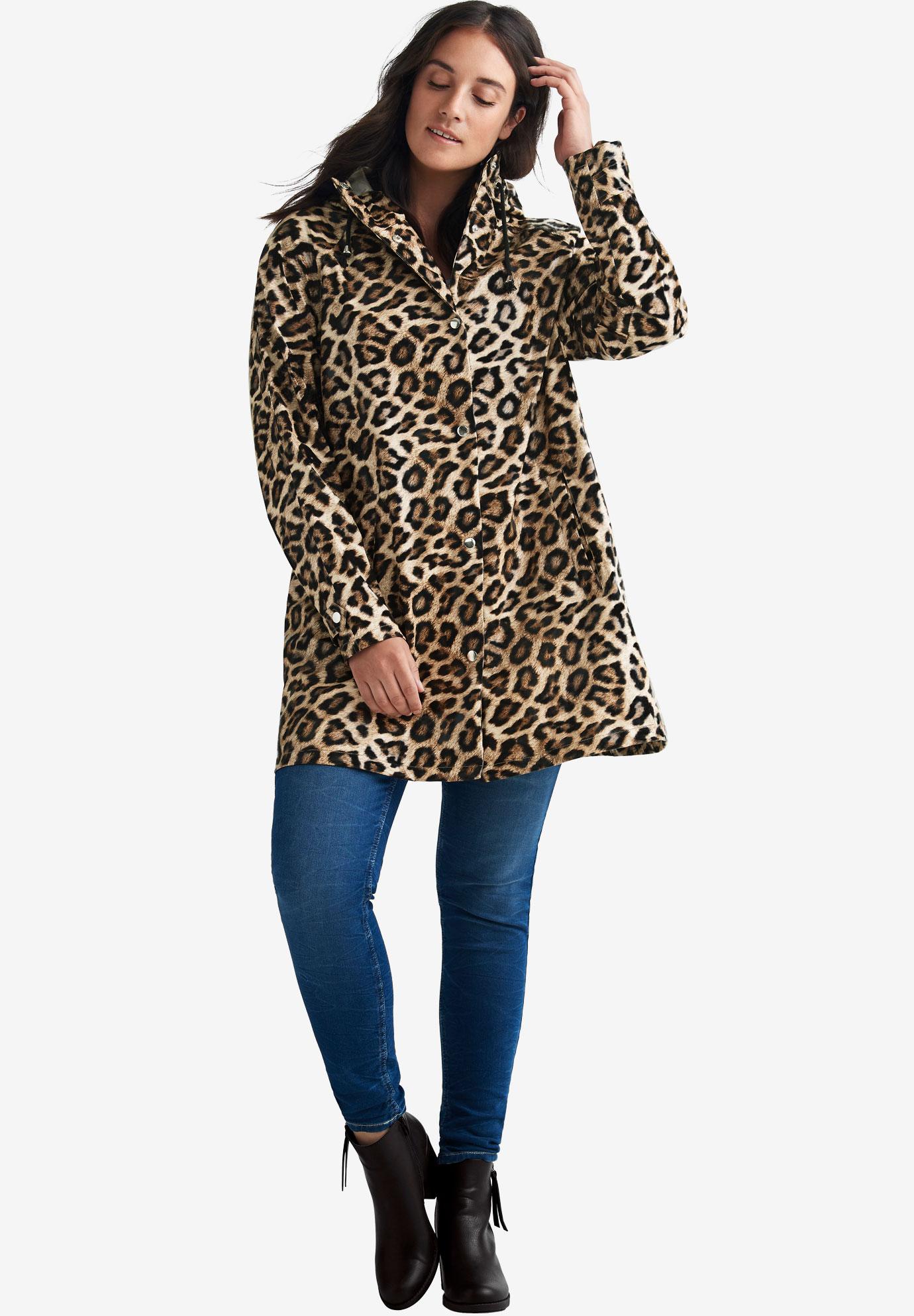 514369d9103c Animal Print Hooded Raincoat by ellos®