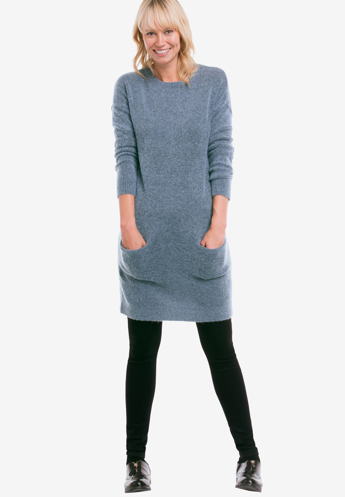 Pullover Pocket Sweater Tunic,