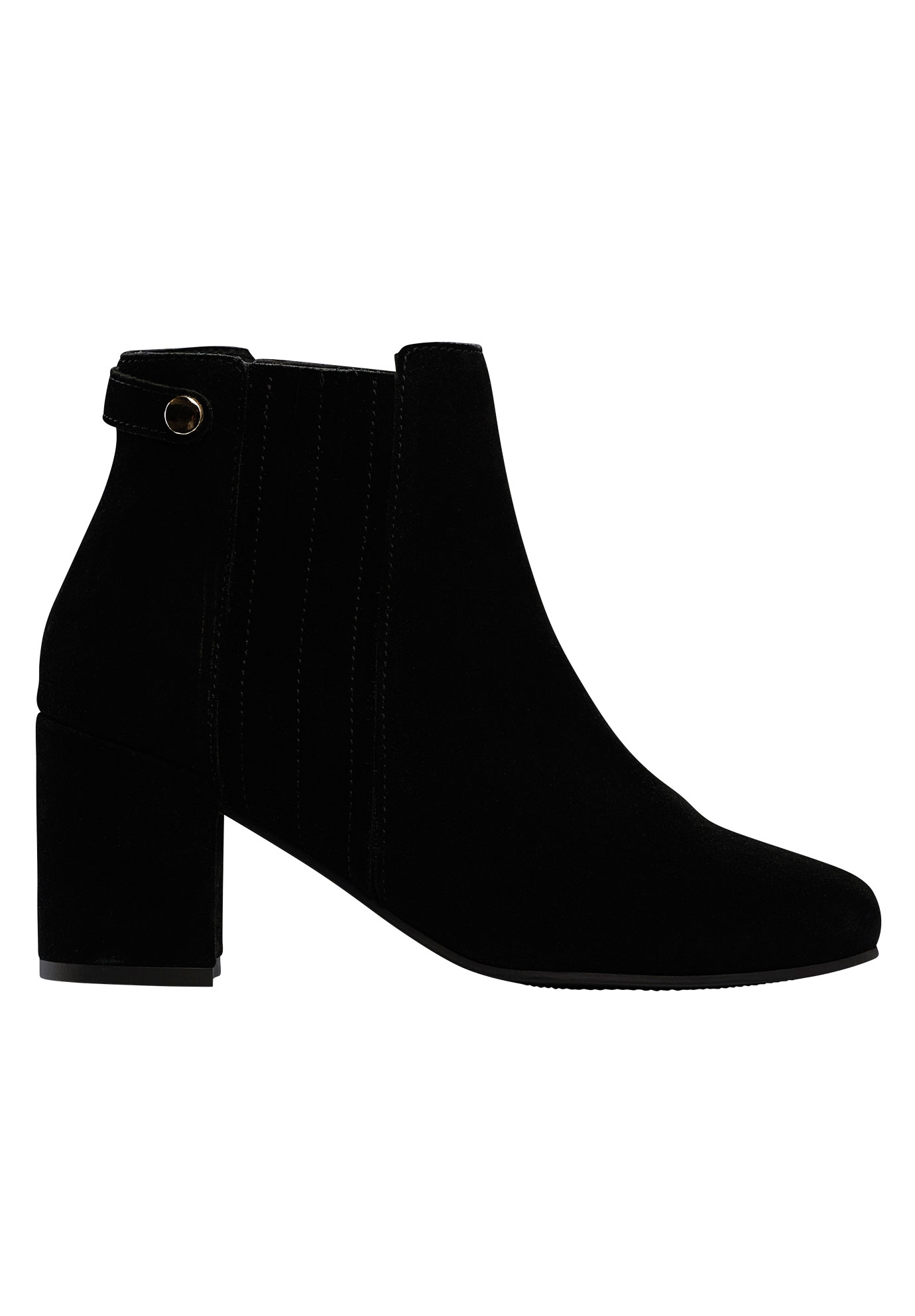 Rivet Trim Suede Bootie by ellos®,