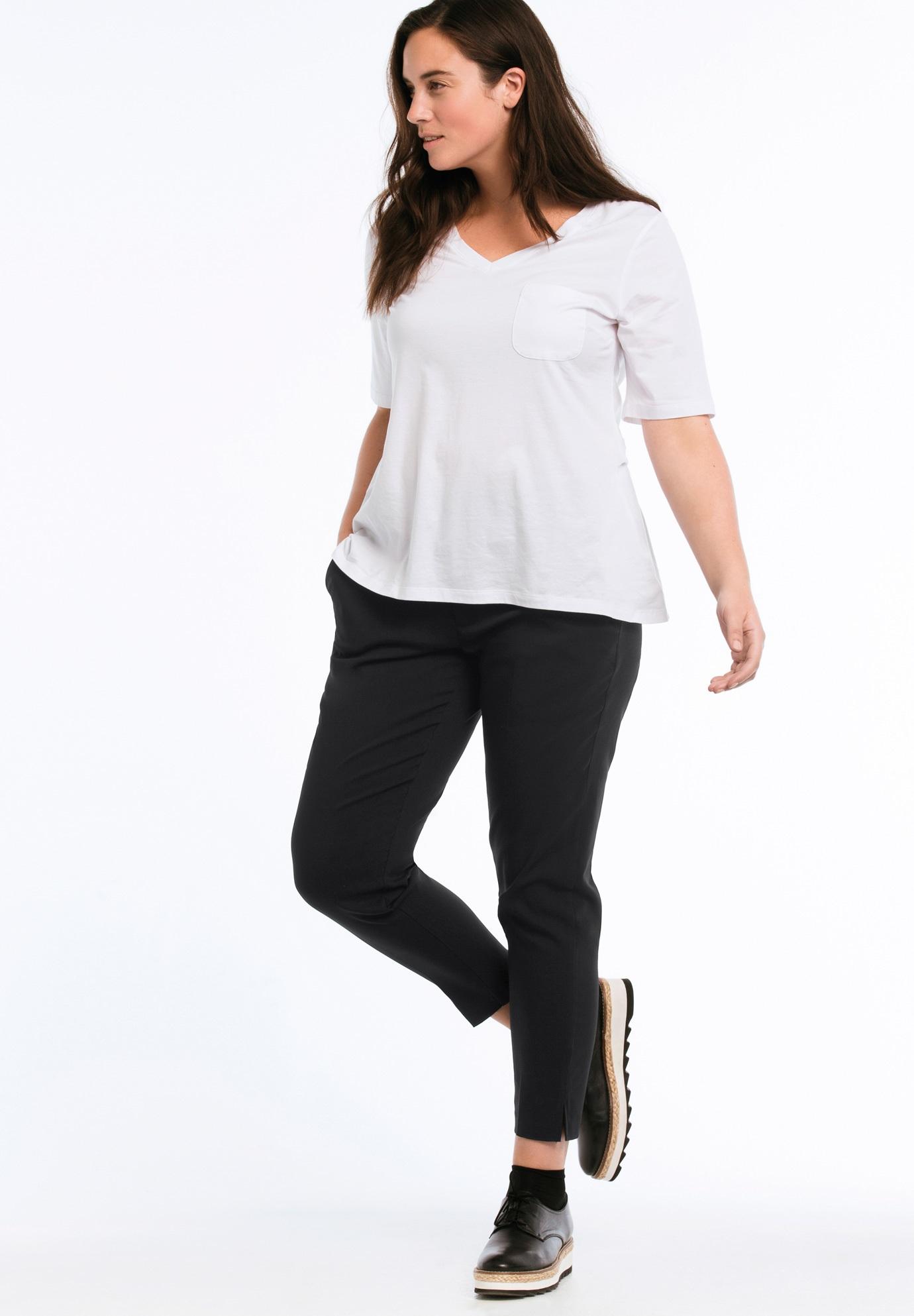 24b3dce057add Tab Front Slim Pants by ellos®