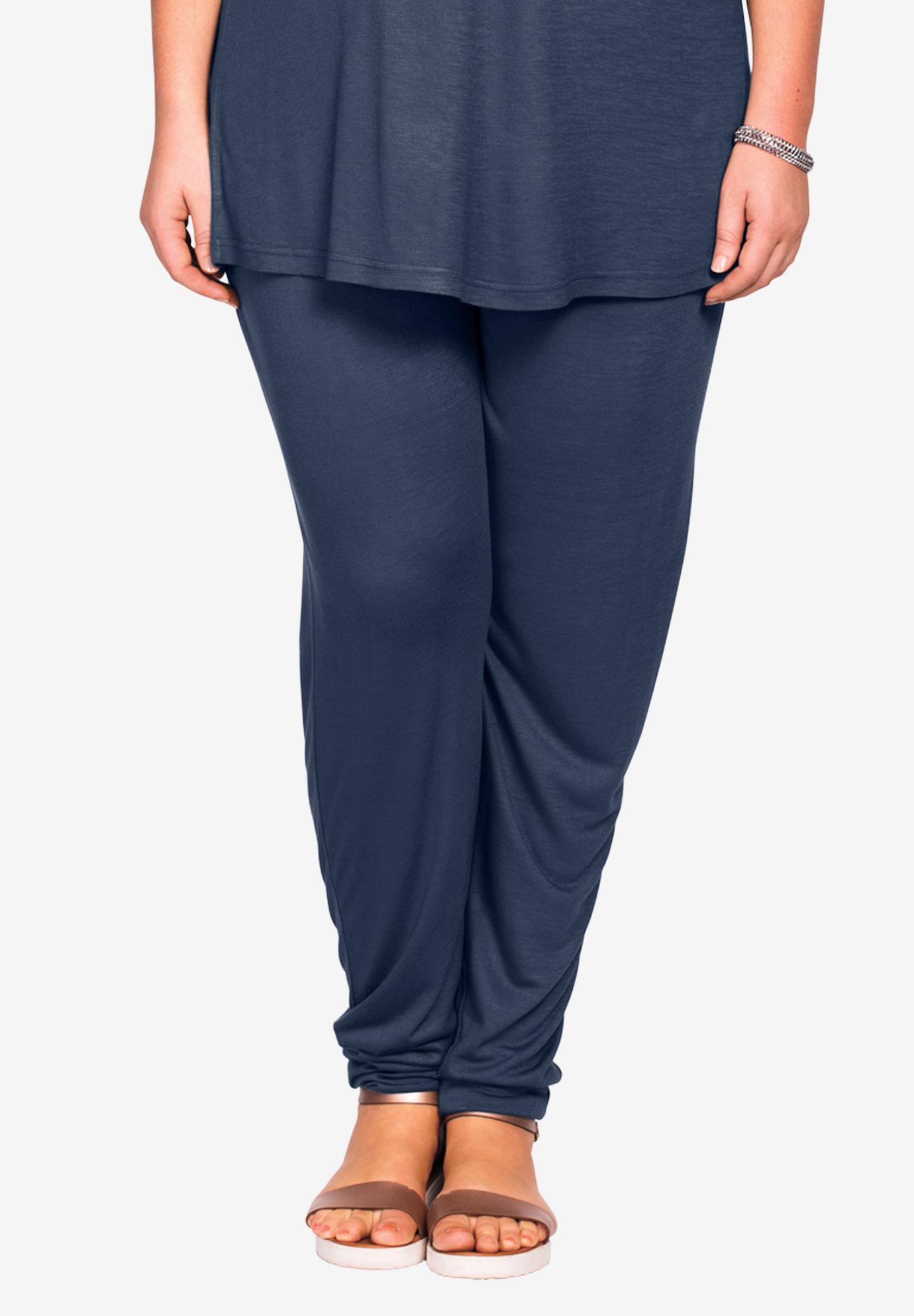 Soft Knit Elastic Waist Pants by ellos®| Plus Size Bottoms | Ellos