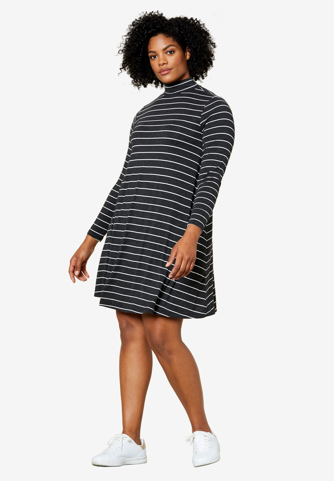 Mock Neck A-Line Dress by ellos®,