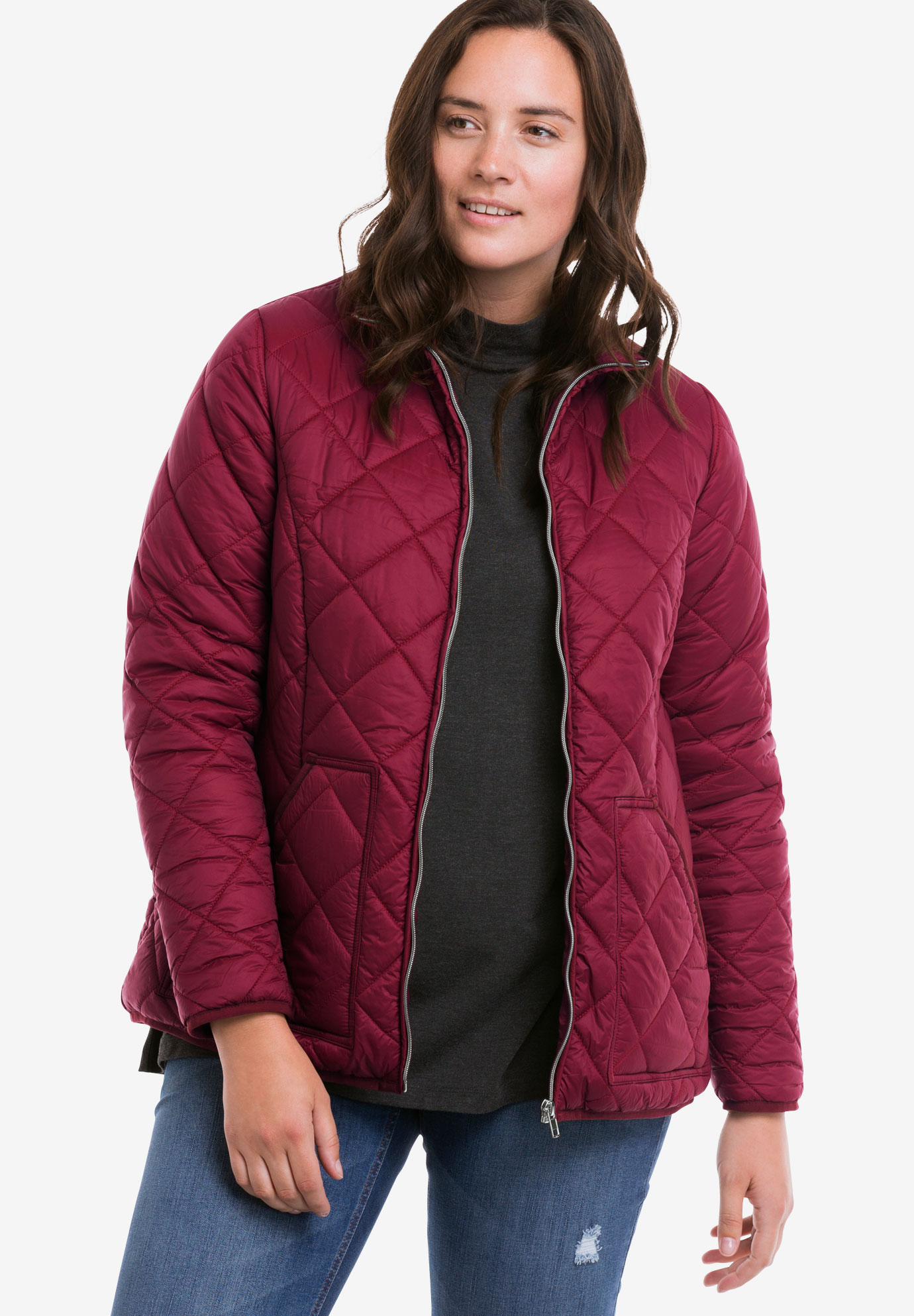 Quilted Zip Front Jacket by ellos®,