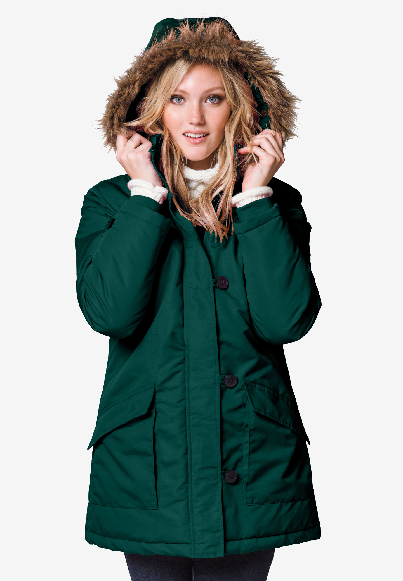 Faux Fur Trim Parka by ellos®,