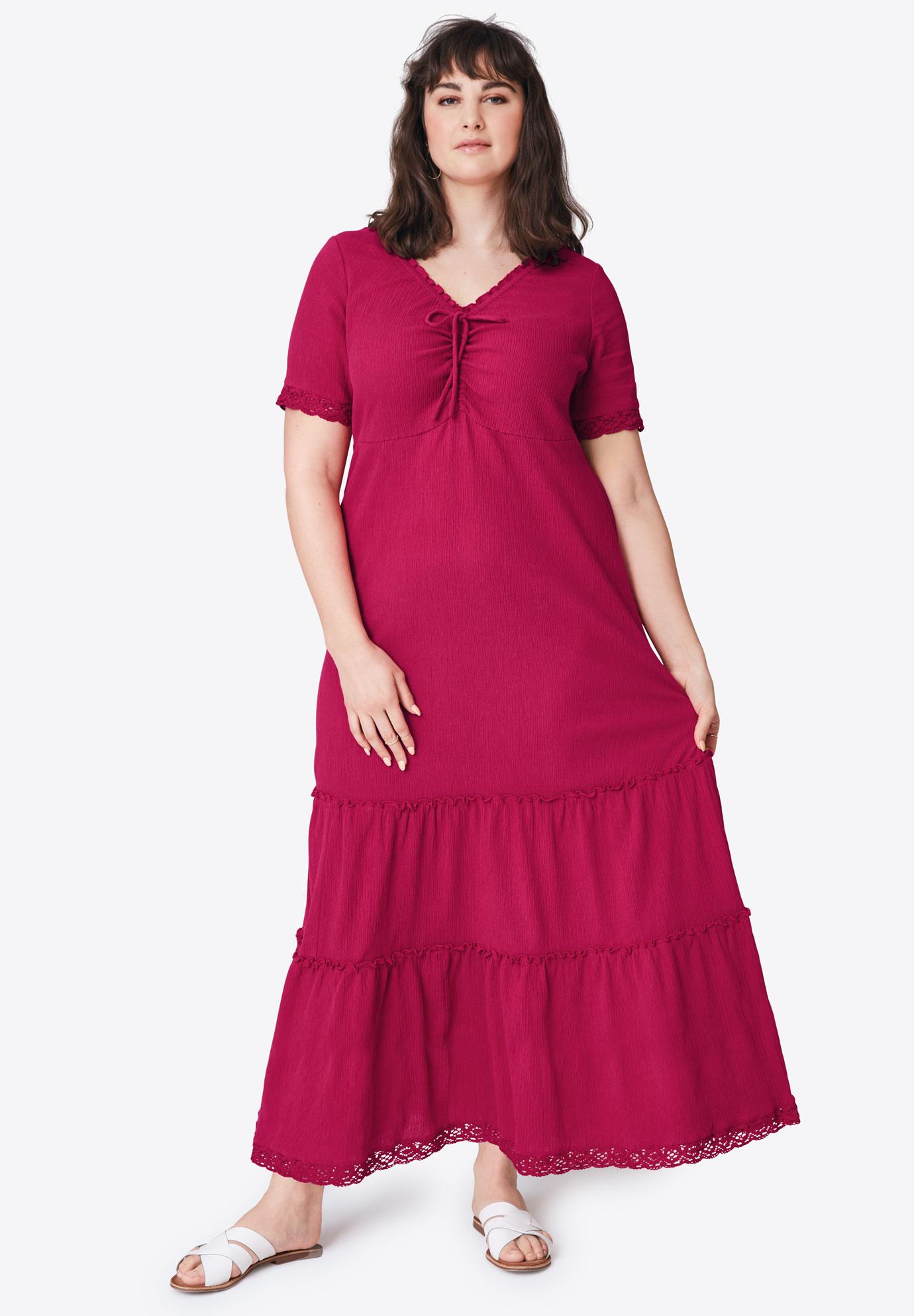 Gauze Maxi Dress by ellos®| Plus Size Maxi Dresses | Ellos