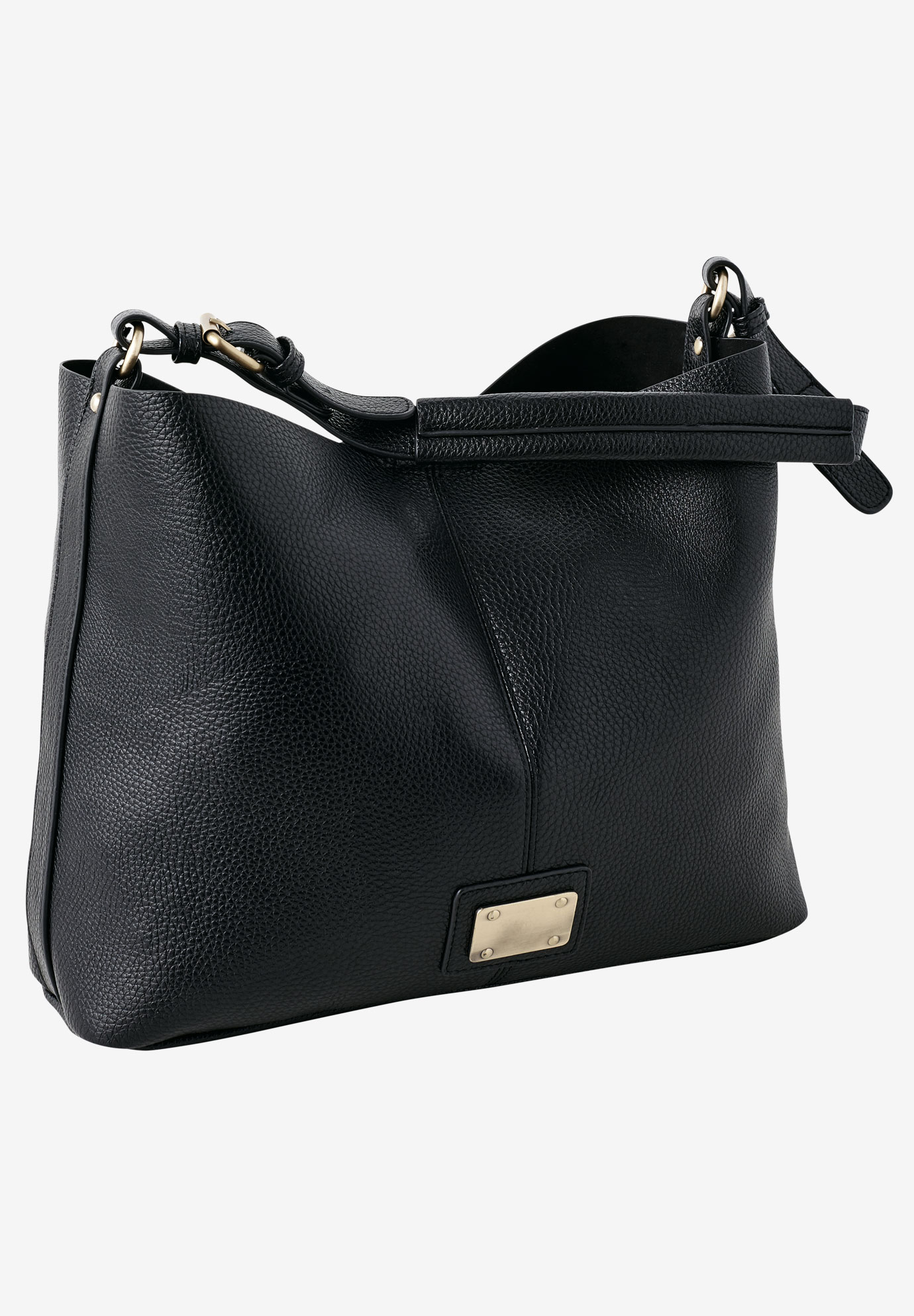 Hobo Shoulder Bag by ellos®, BLACK