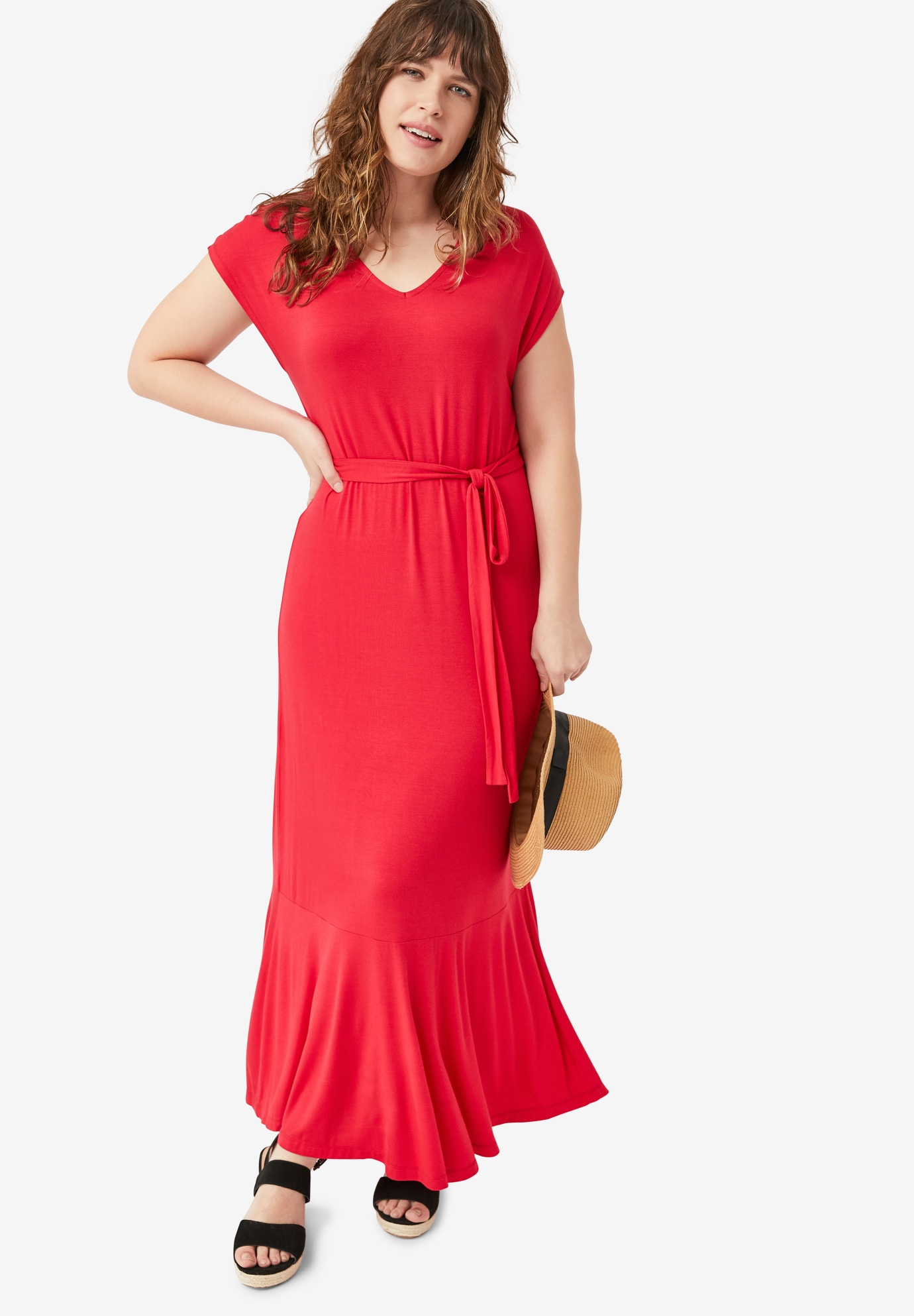 V-Neck Maxi Dress by ellos®,