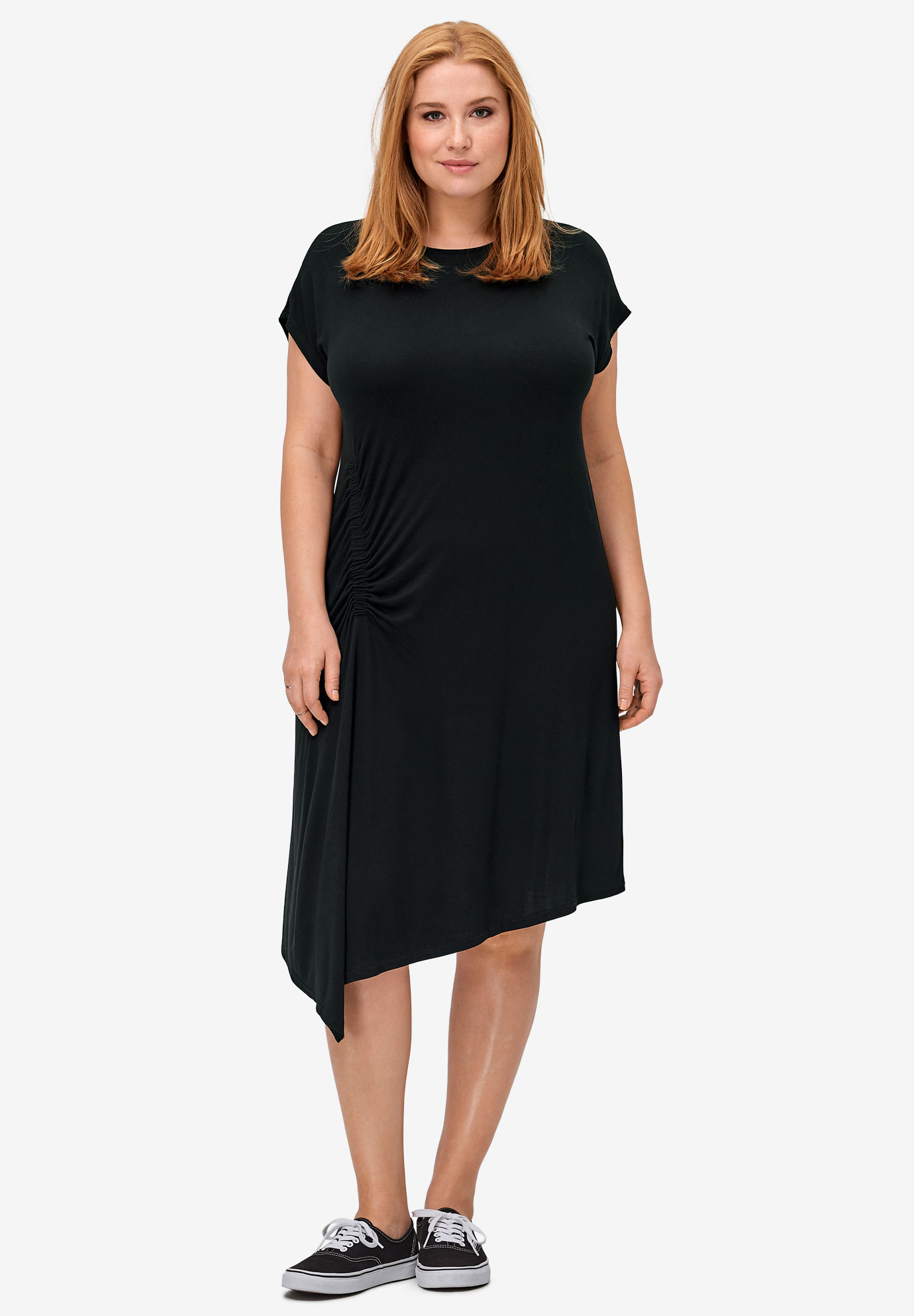 Ruched Side Knit Dress by ellos®,