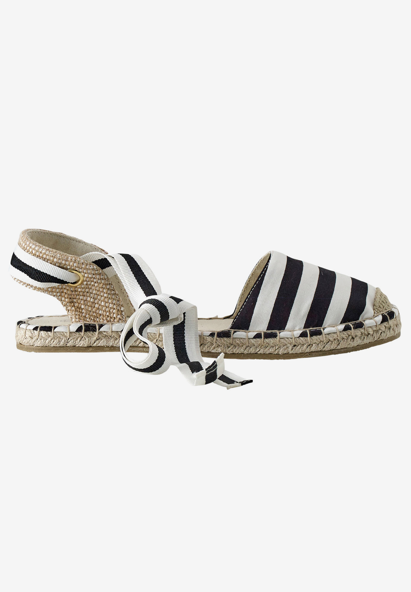 Lace-Up Flat Espadrilles by ellos®,