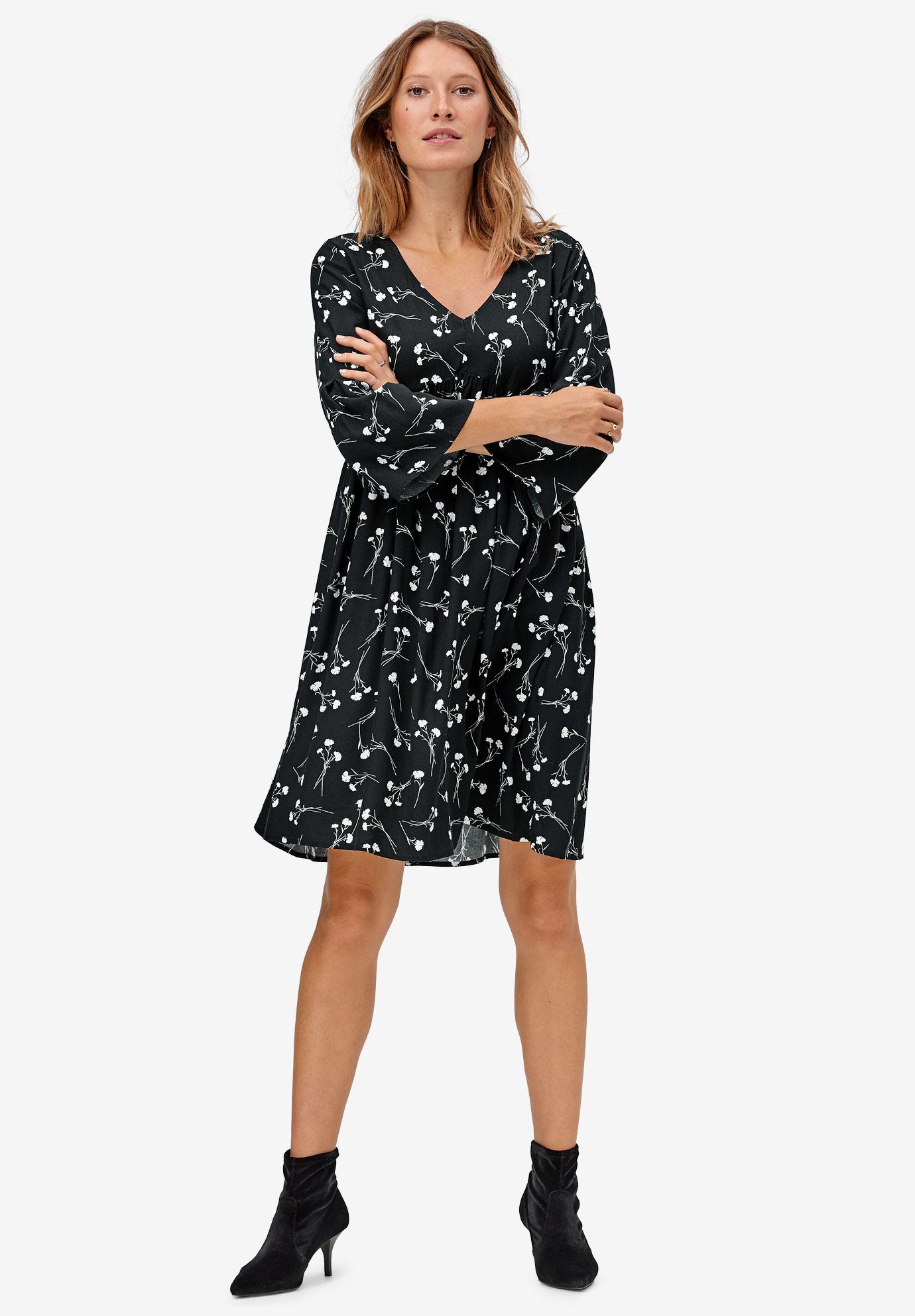 Bell-Sleeve Empire Waist Dress by ellos®