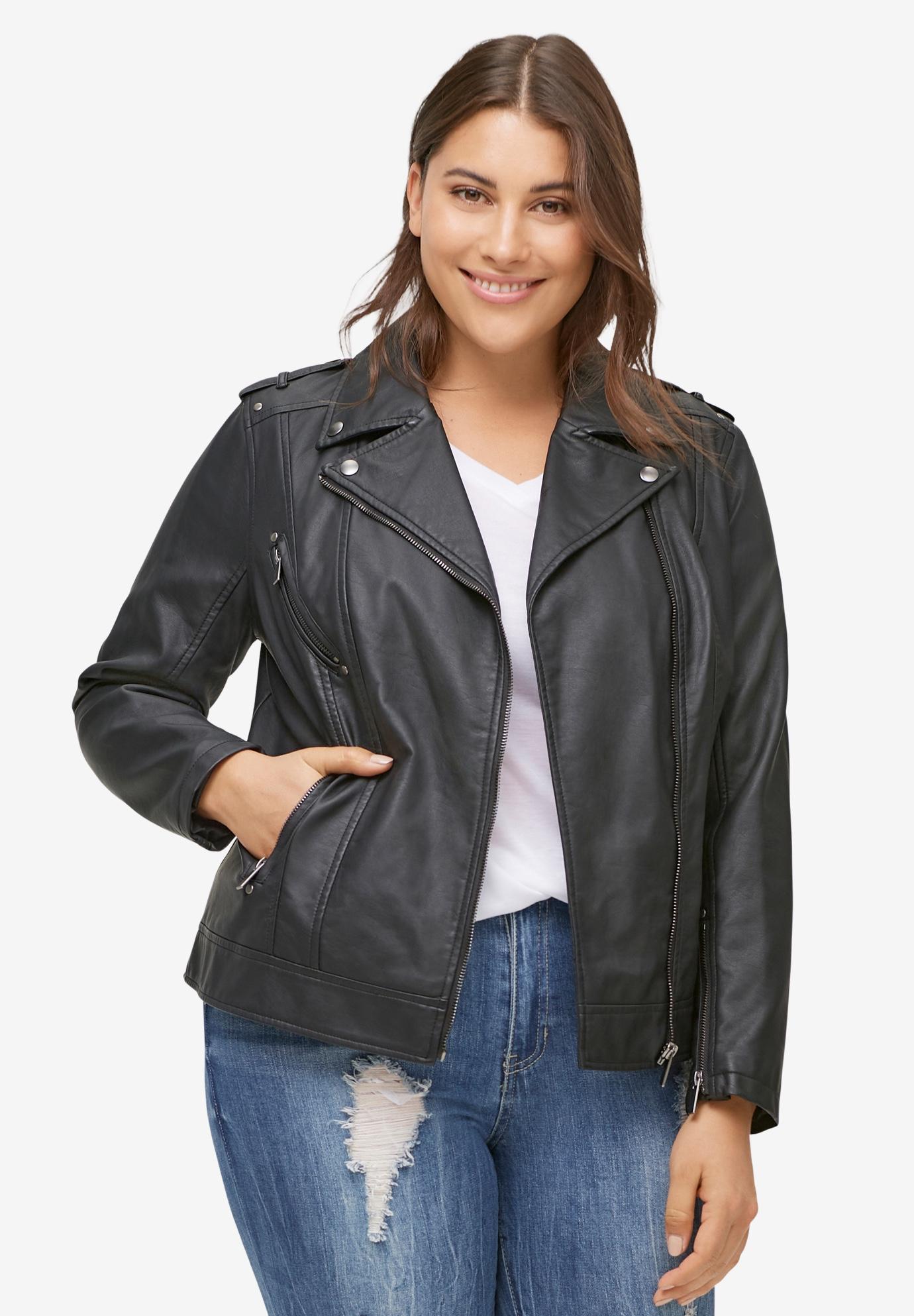 c0db5e858c Faux Leather Moto Jacket by ellos®