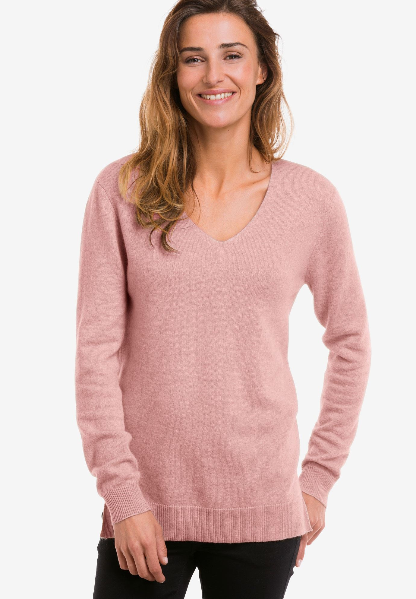 V Neck Cashmere Pullover Sweater By Ellos Plus Size Cardigans