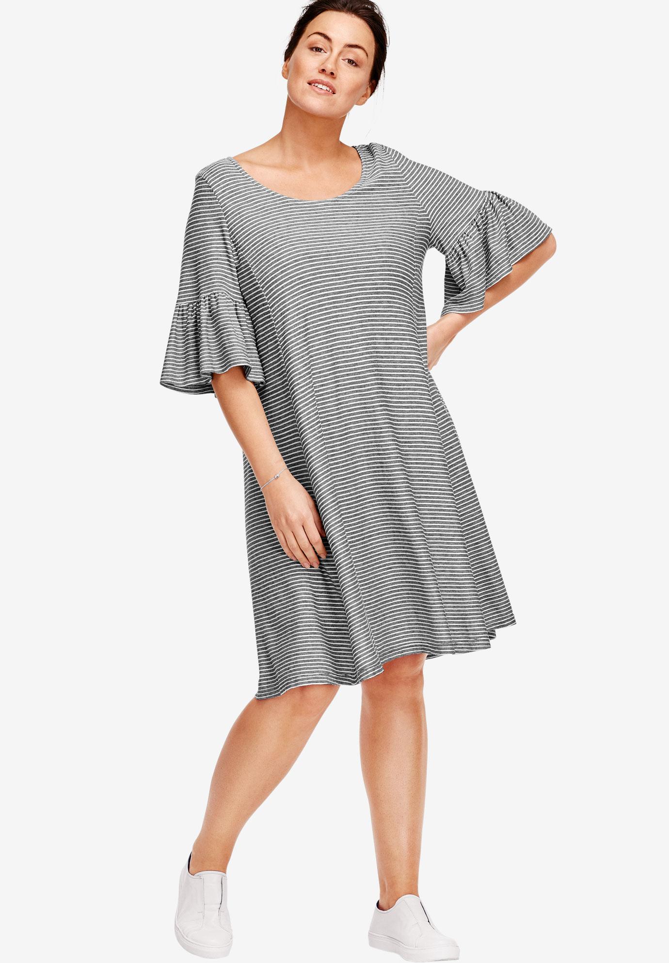 5bcc6ee266 Flounced Knit Dress by ellos®