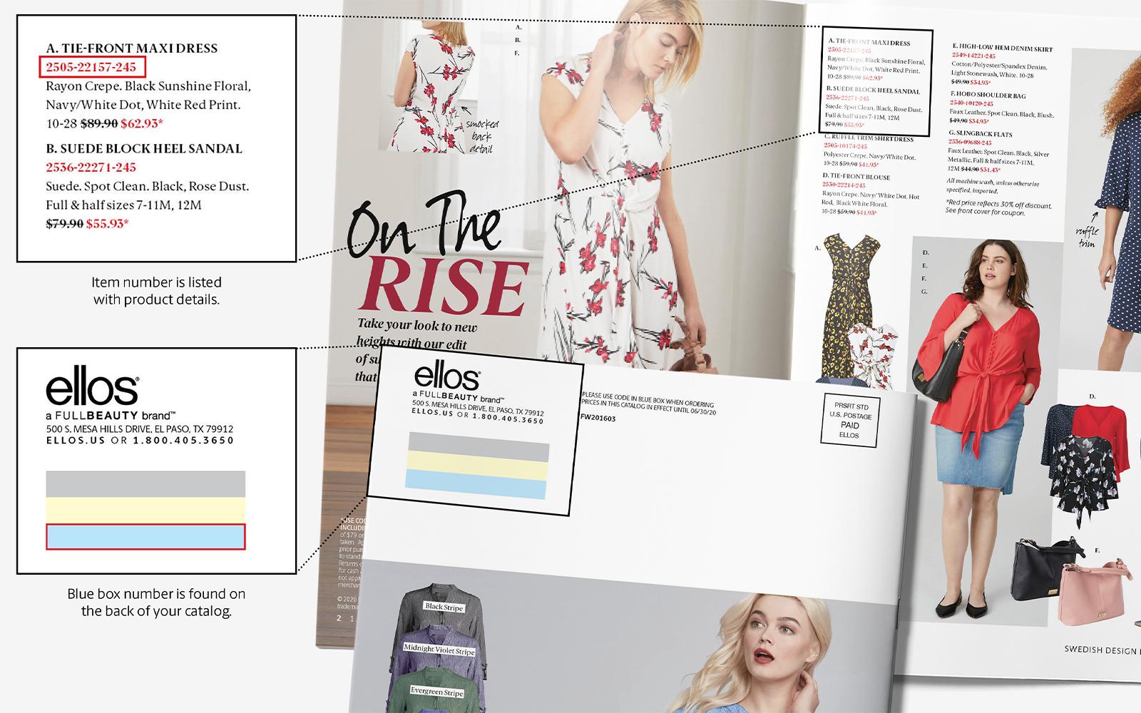 Ellos catalog Quick Order