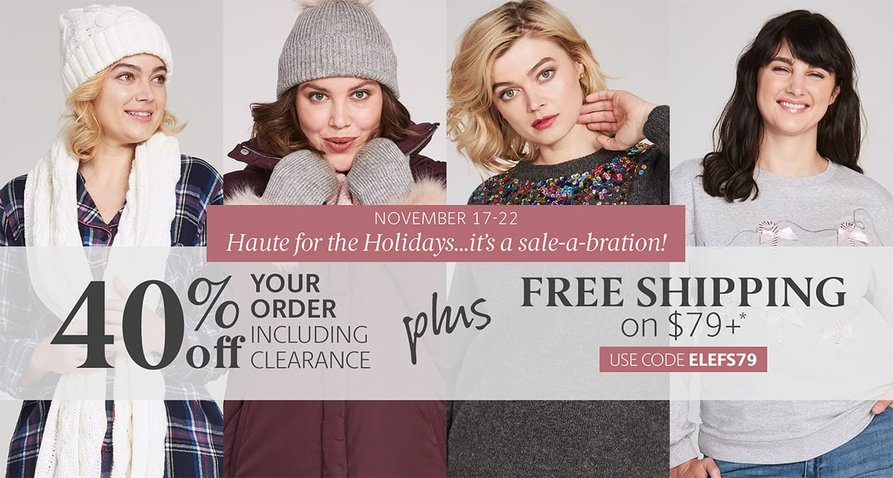 Bundle Up! 40% Off your order including clearance + free shipping on $79+ code: ELCKD4079